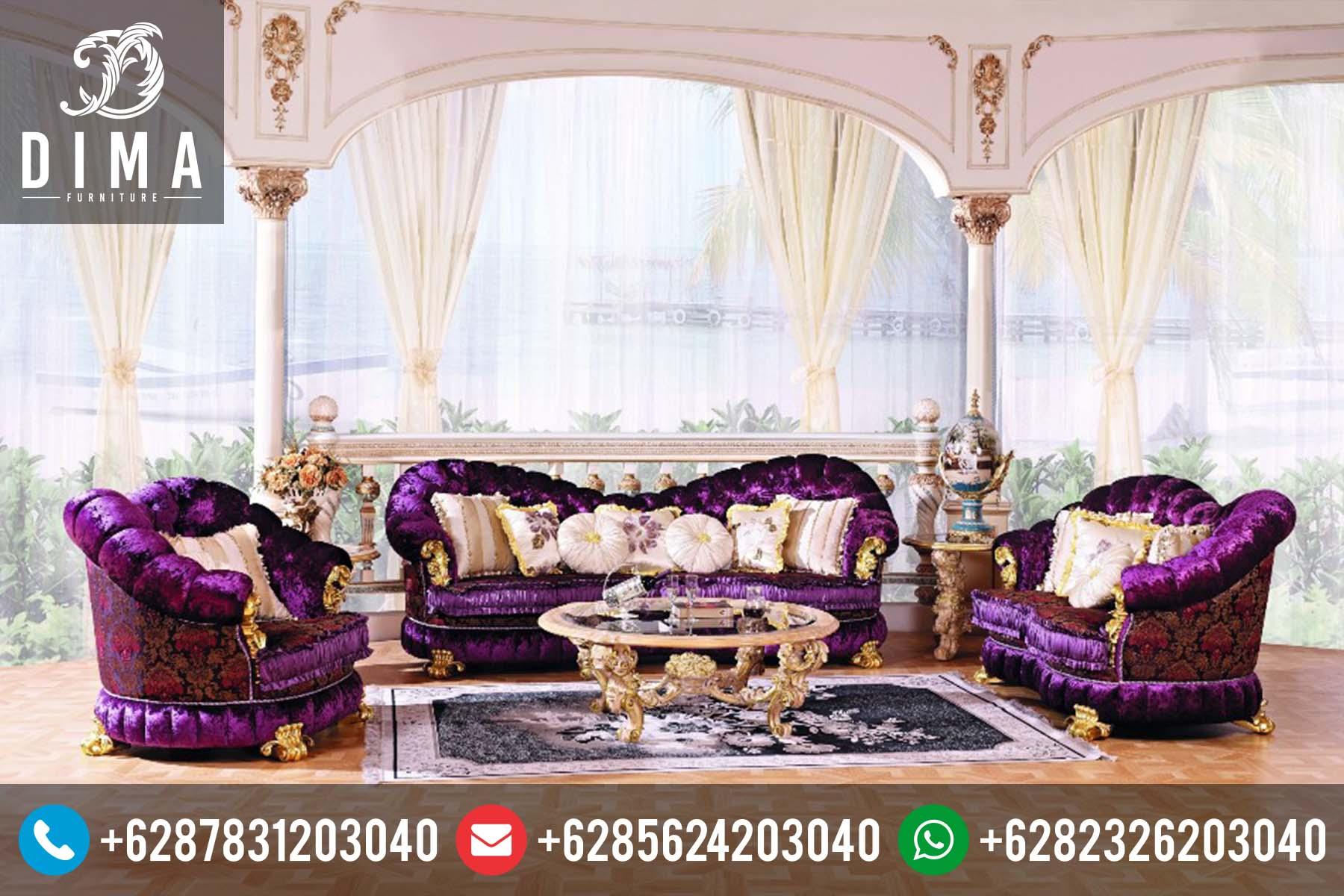 Sofa Kursi Tamu Murah Klasik Mewah Ukir Jepara Terbaru DF-0027
