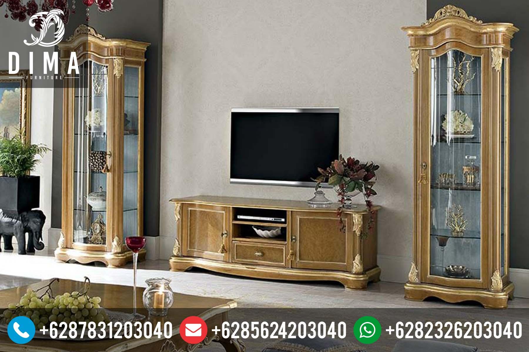 Bufet TV Minimalis Klasik Murah Terbaru Duco Ukiran Jepara DF-0036