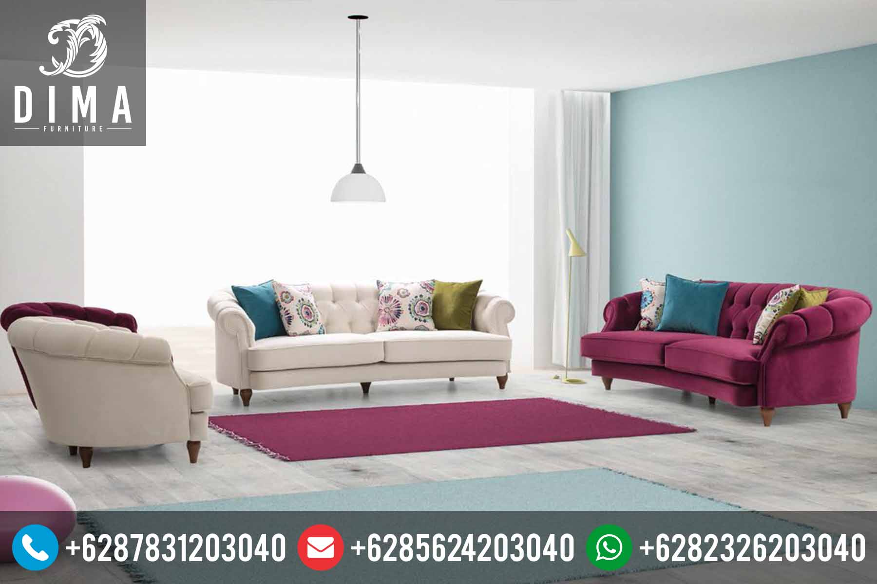 Mebel Jepara Terbaru Set Sofa Tamu Minimalis Modern Shabby Chic DF-0070