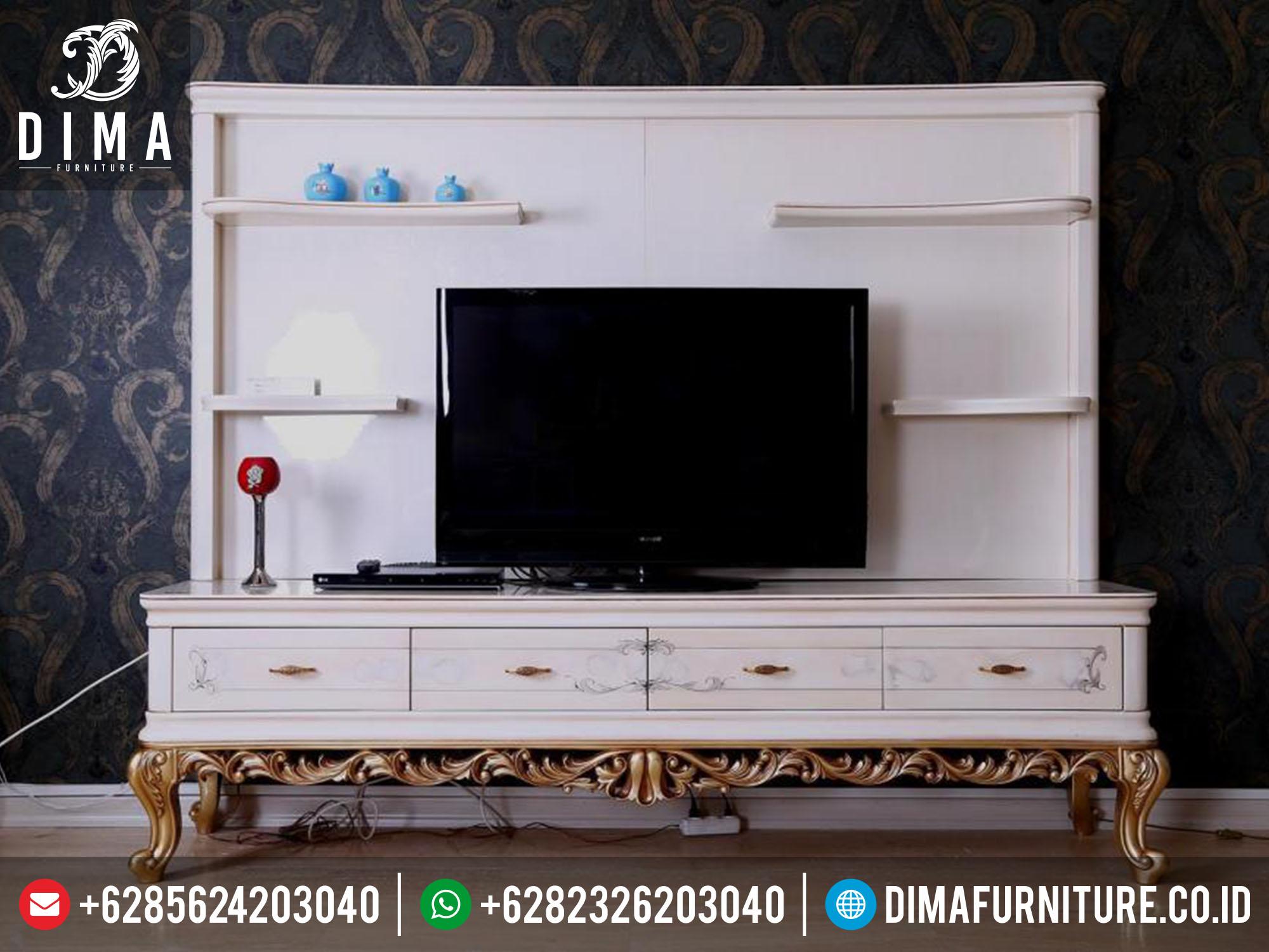 Bufet TV Minimalis Jepara Terbaru Mewah Classic Koltuk Turkey DF-0145