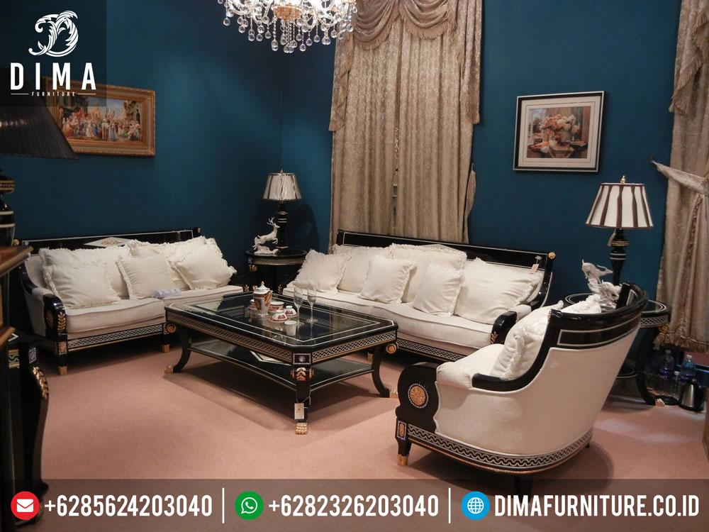Kursi Tamu Minimalis Mewah Swarovski Luxury Italian Sofa Set Terbaru DF-0172