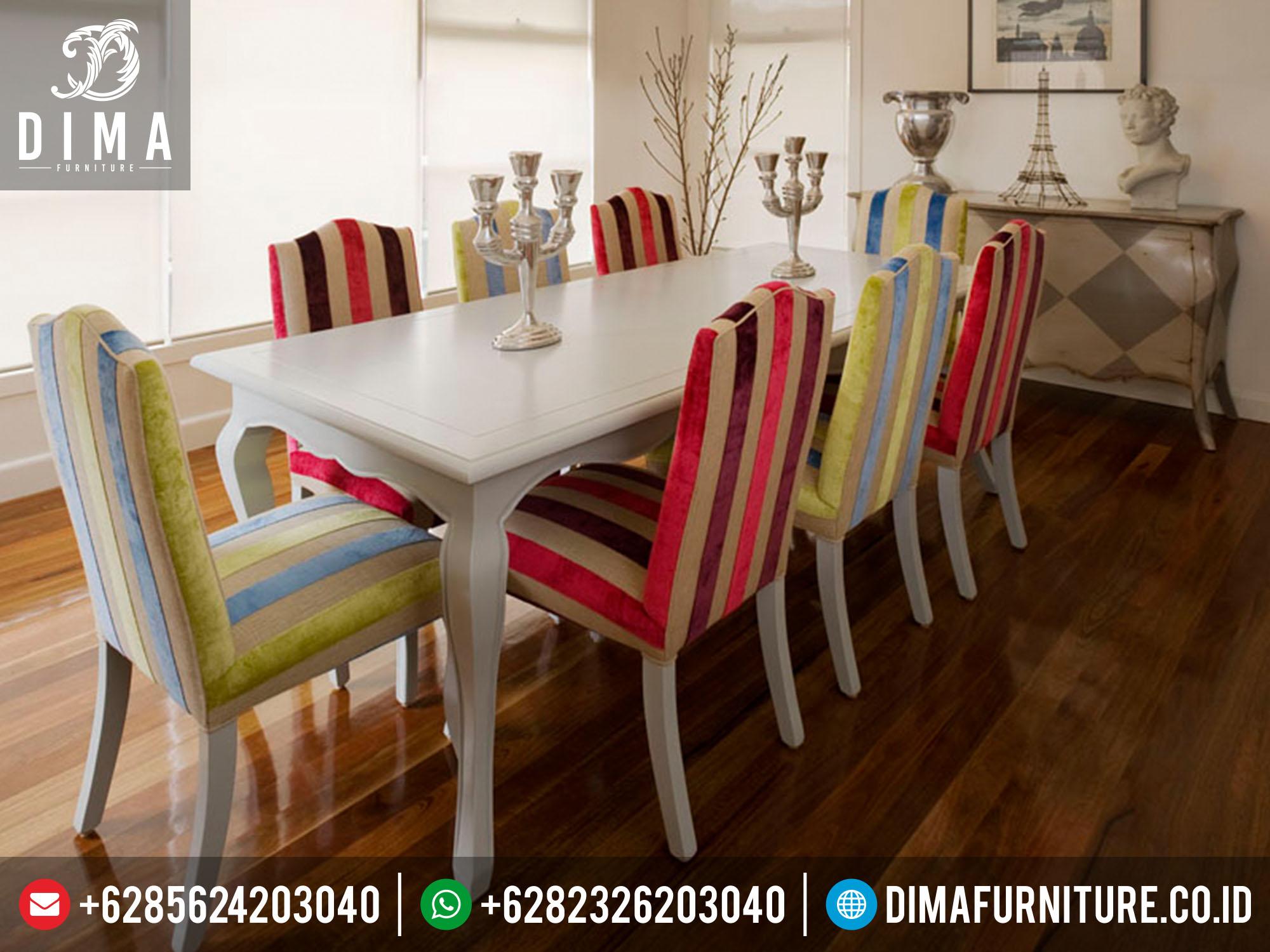 mebel jepara set meja makan minimalis modern mewah terbaru DF-0158