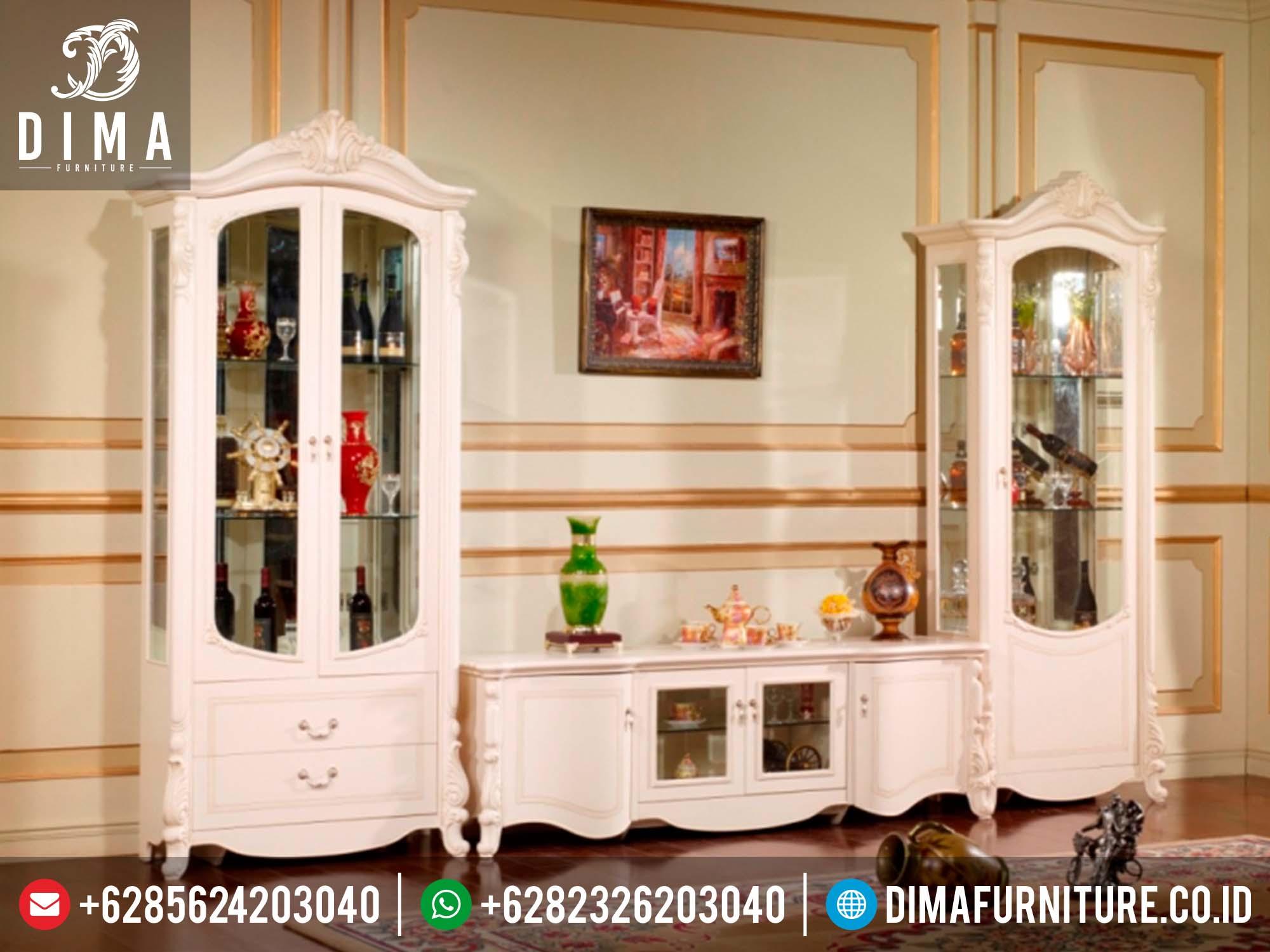 Set Buffet TV Minimalis Klasik, Lemari Hias Minimalis Jati Jepara, Set Bufet TV Minimalis Mewah Terbaru DF-0135