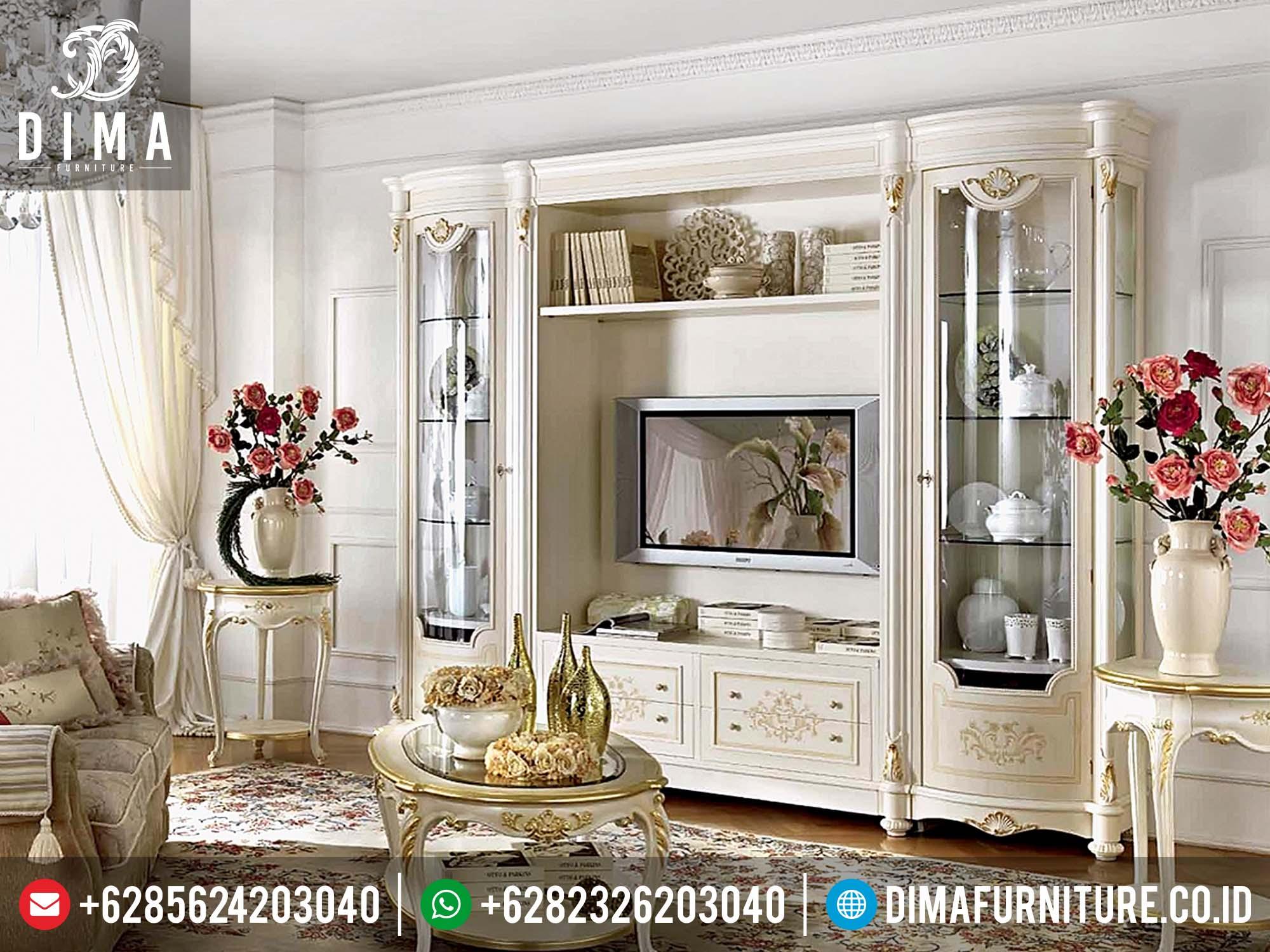 Set Lemari Hias Dan Bufet TV Mewah Klasik Minimalis Jepara DF-0149