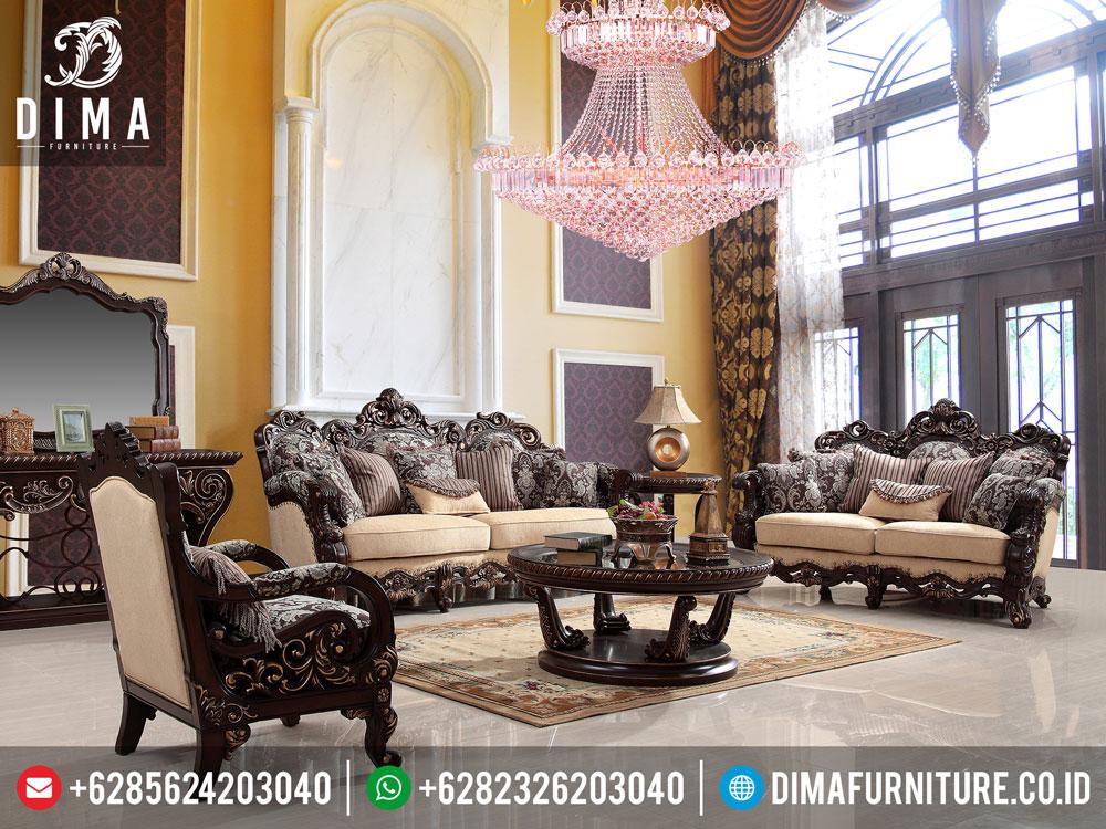 Set Sofa Kursi Tamu Klasik Mewah Terbaru Traditional Living Room DF-0169