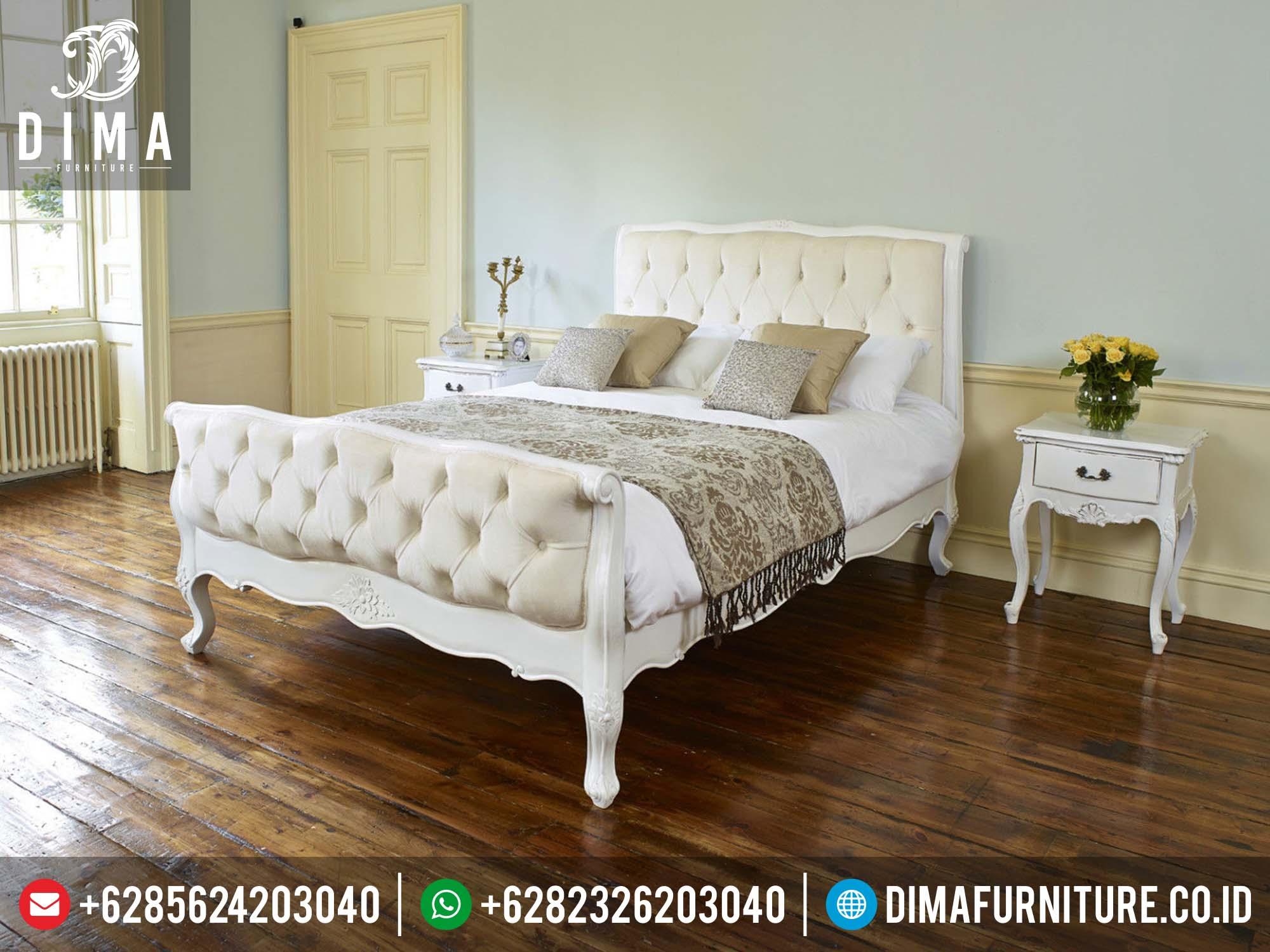 Tempat Tidur Mewah Kamar Set Jepara Terbaru Minimalis Duco Putih Murah DF-0124
