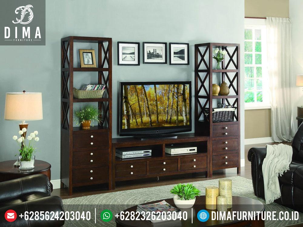 DF-0199 Set Buffet TV Lemari Pajangan Mewah Minimalis Modern Terbaru