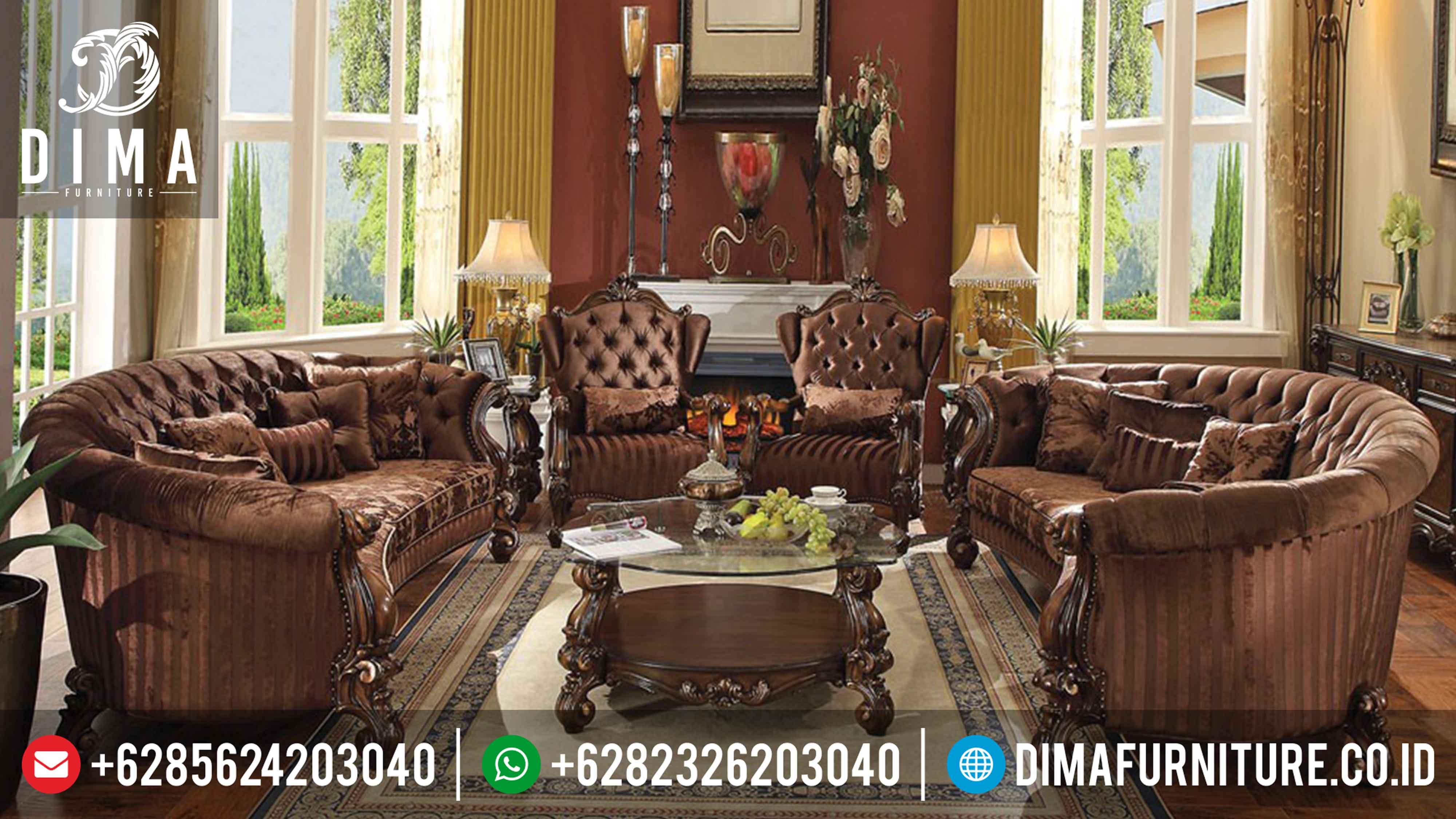Set Sofa Tamu Jepara, Sofa Mewah Ruang Tamu, Kursi Tamu Mewah Terbaru DF-0275