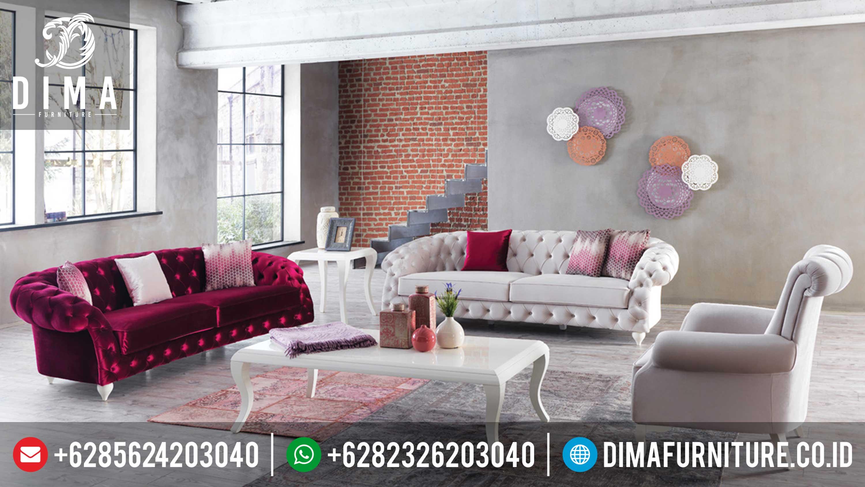 Sofa Tamu Mewah Minimalis, Sofa Tamu Jepara Terbaru, Sofa Full Cover Modern DF-0285