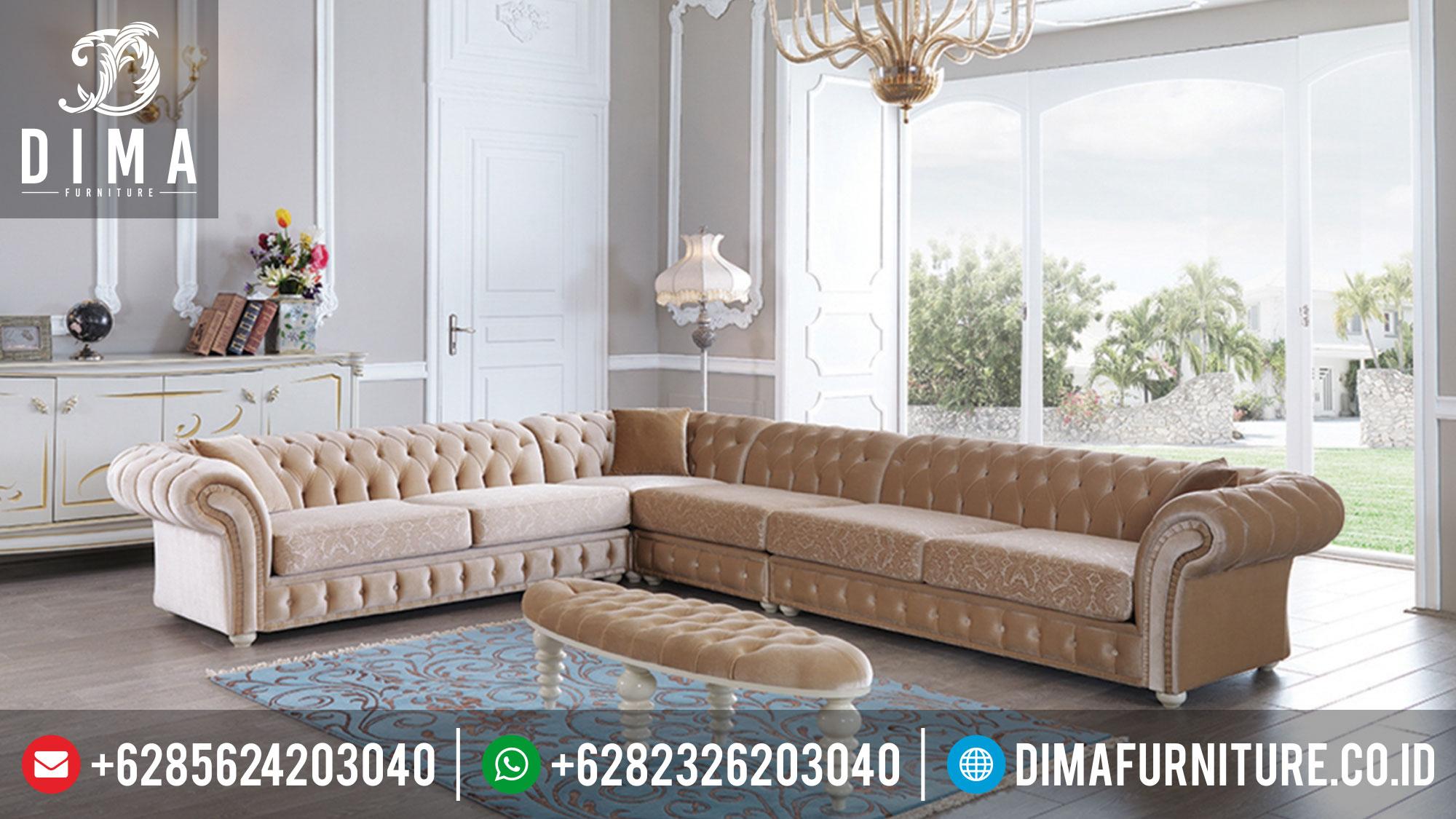 Sofa Tamu Mewah Sudut L Terbaru DF-0340