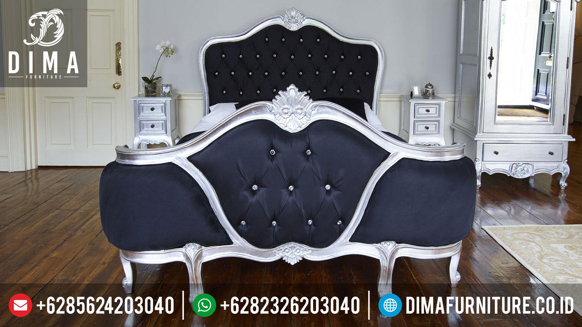 Tempat Tidur Minimalis Perak, Kamar Set Rococo Mewah, Set Kamar Tidur Terbaru DF-0343 Gambar 1