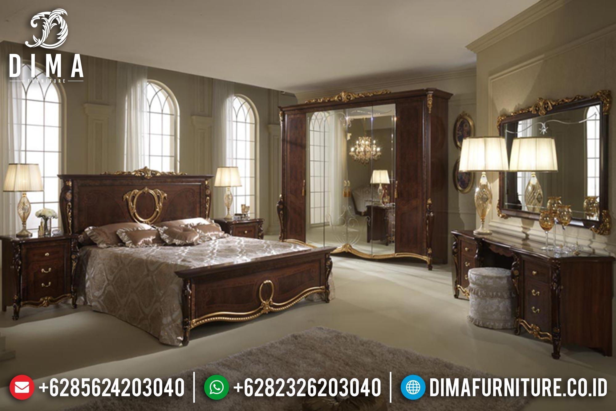 Set Kamar Tempat Tidur Jati Jepara Mewah Donatelo DF-0340