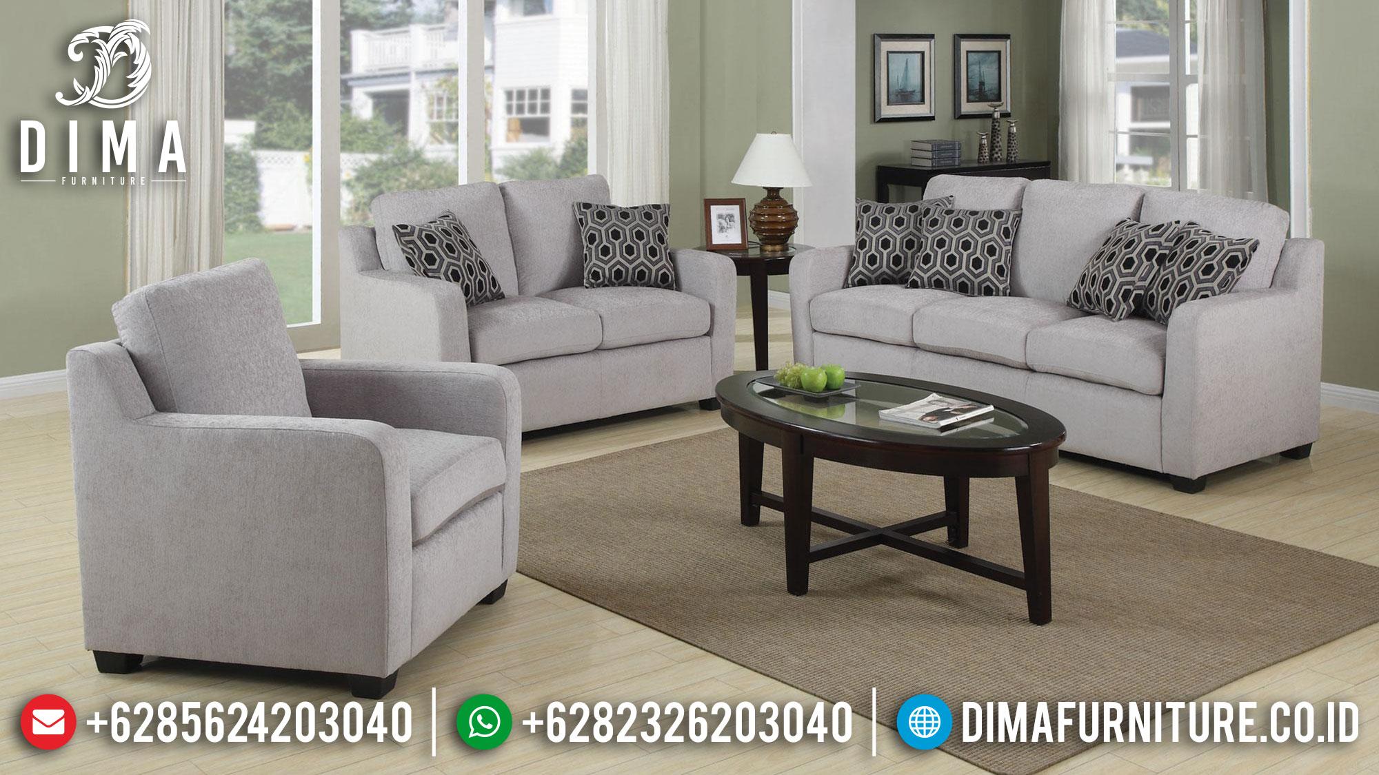 Sofa Tamu Jepara Minimalis Modern Terbaru Gray DF-0347