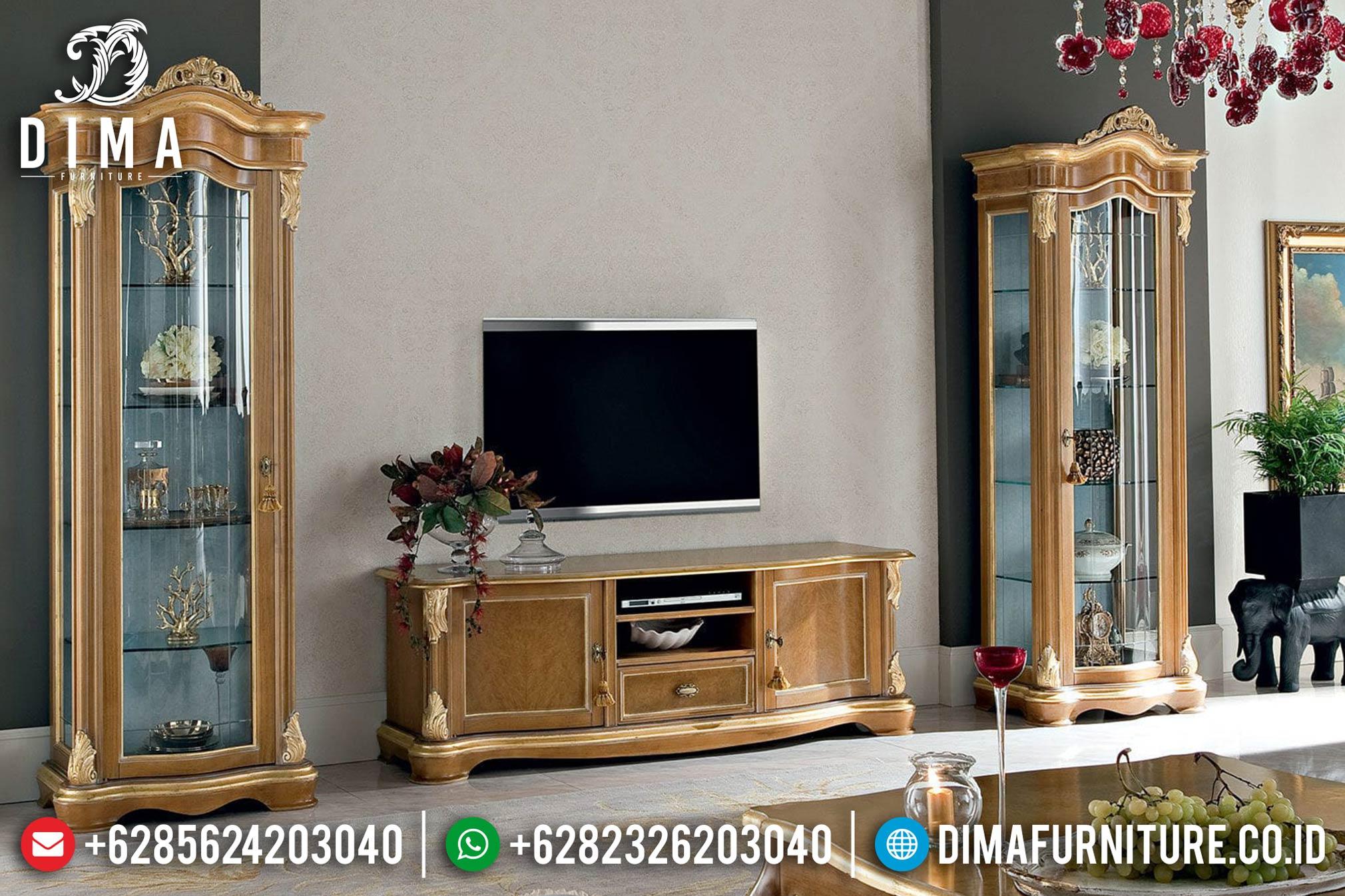 Bufet TV Minimalis Jati Jepara Lemari Hias Mewah Terbaru DF-0367