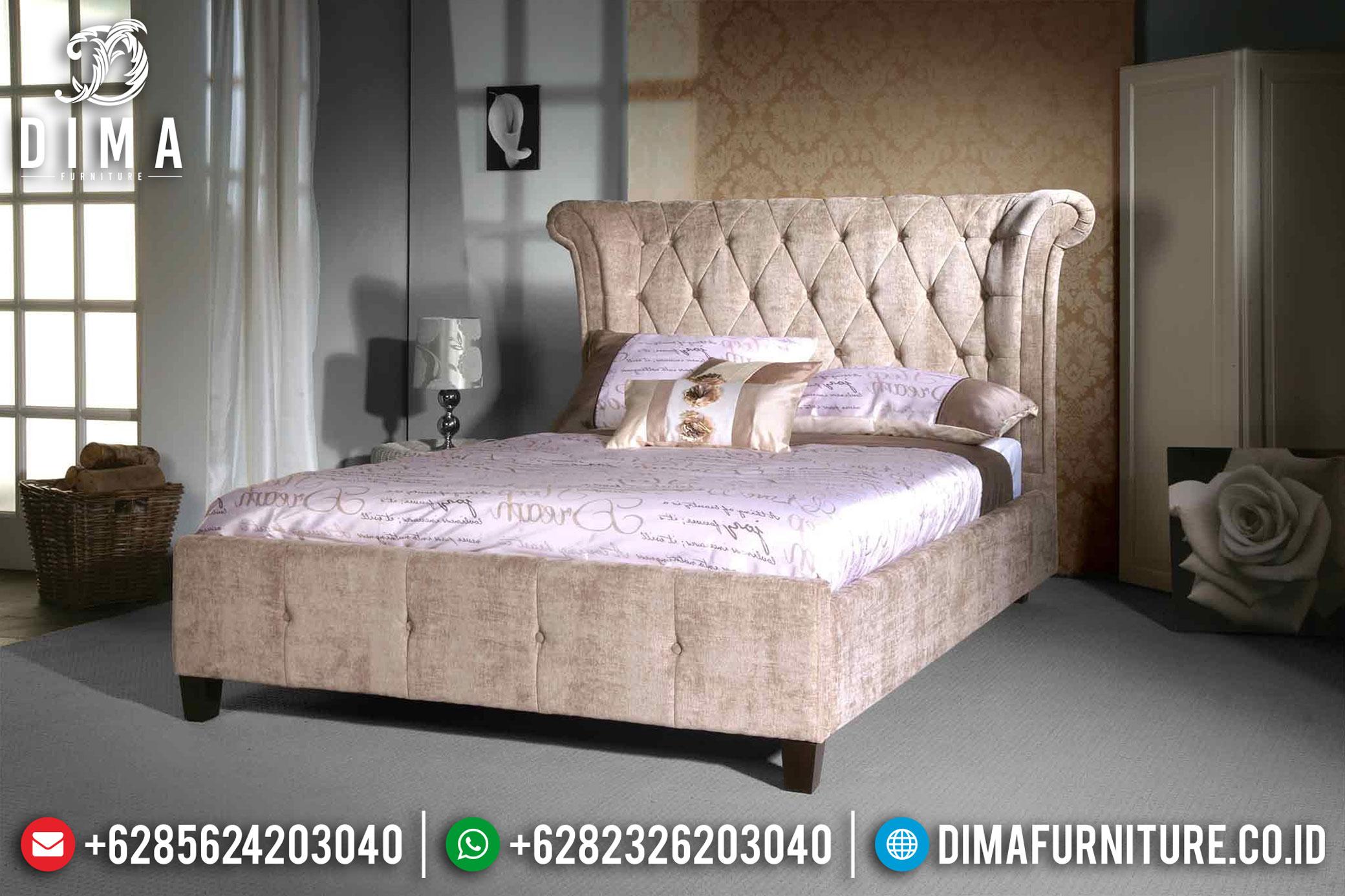Tempat Tidur Kamar Set Minimalis Jepara Terbaru Mewah Full Cover DF-0365
