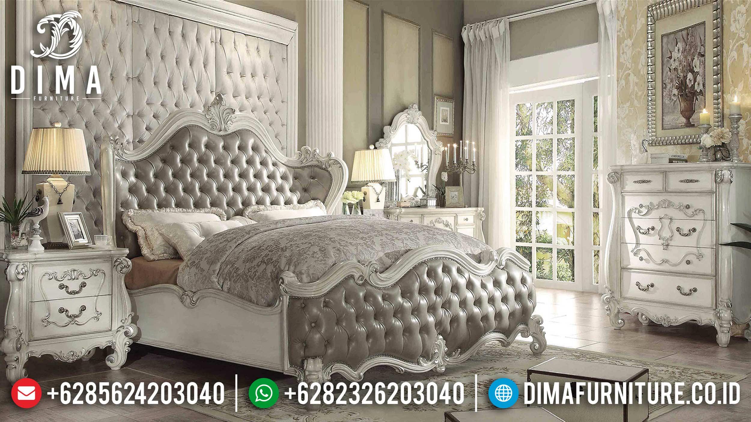 Kamar Set Mewah Jepara, Tempat Tidur Ukiran Klasik, Set Kamar Tidur Mewah Terbaru DF-0381