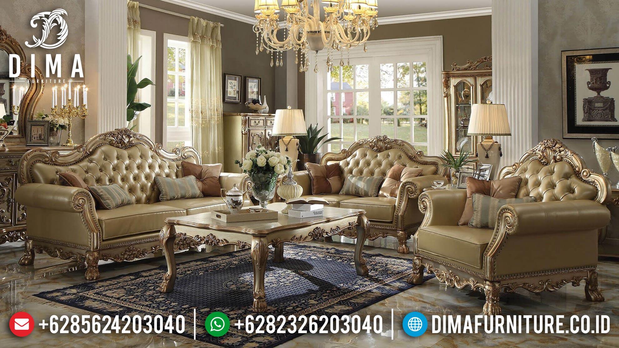 Kursi Sofa Ruang Tamu Mewah Ukiran Jepara Terbaru Harga Murah DF-0376