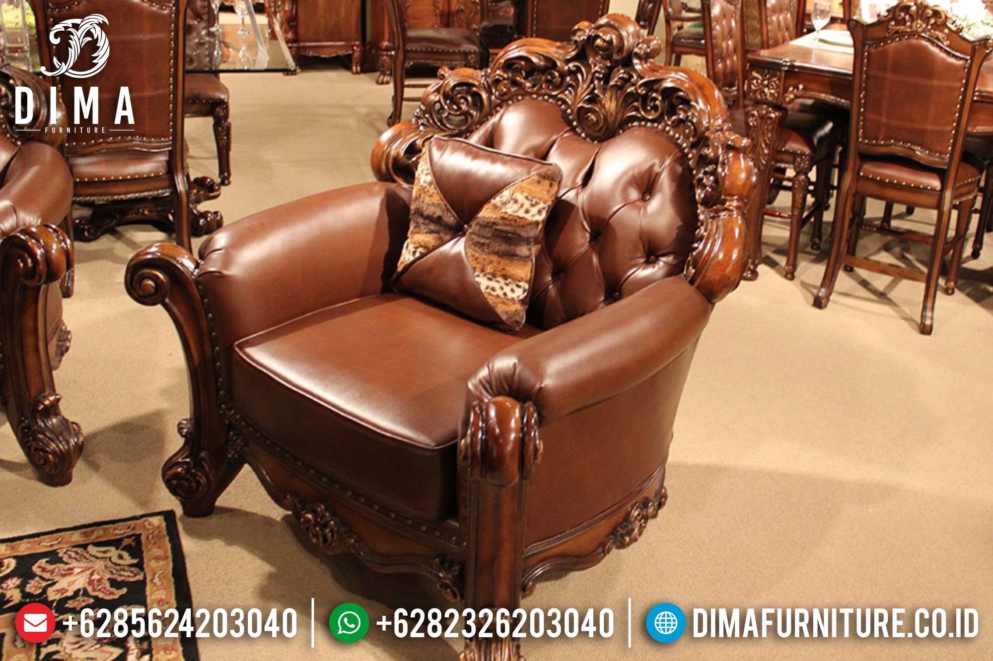 Kursi Sofa Tamu Jepara Set Mewah Terbaru Klasik Royals DF-0386 Gambar 3
