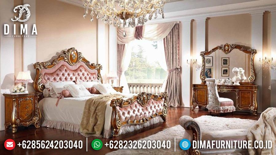 Mebel Jati Jepara Kamar Set Mewah Terbaru Luxury Natural Emas DF-0433