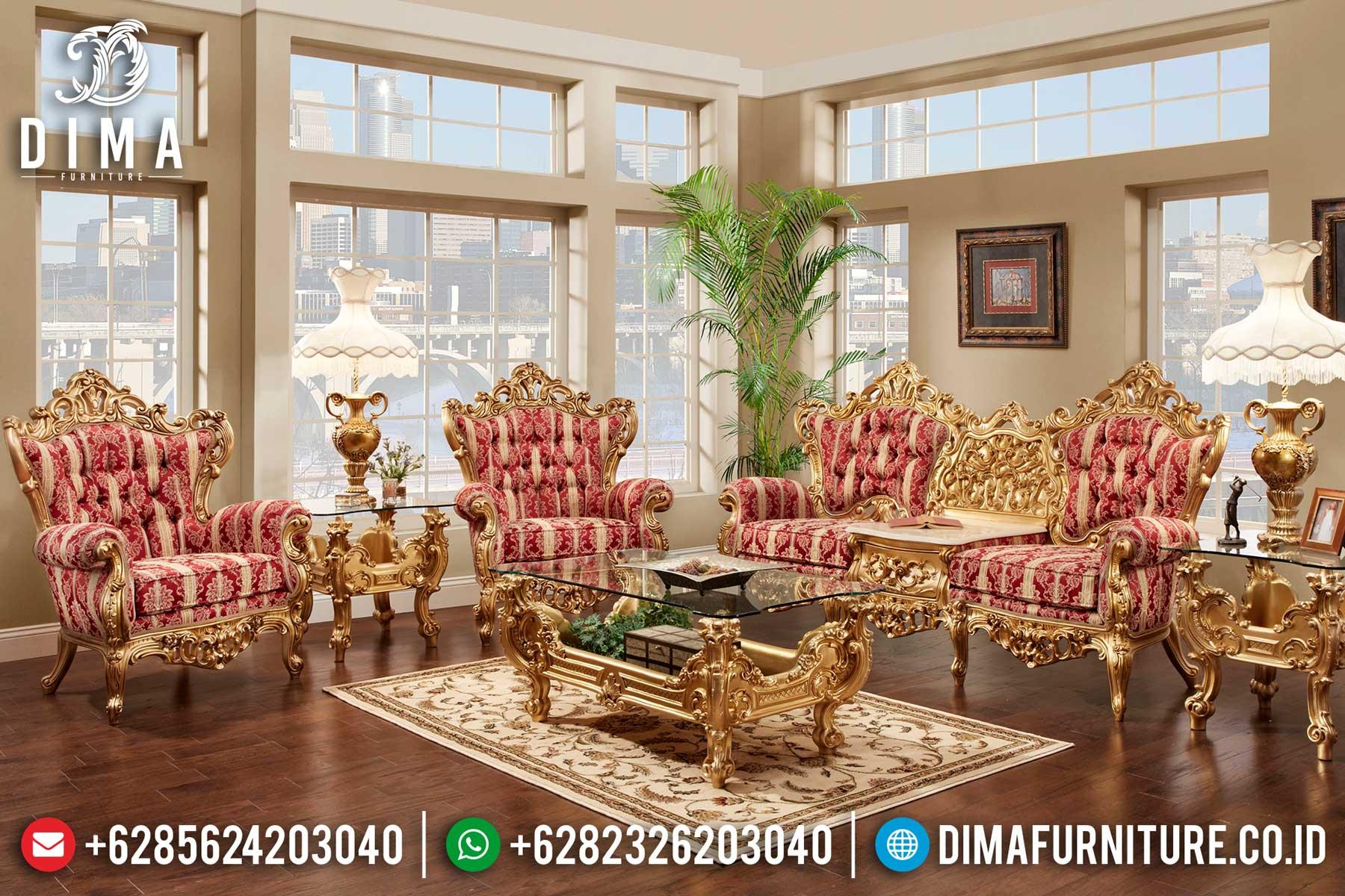 Sofa Tamu Mewah Klasik Ukiran Jepara Terbaru Laroyale DF-0389