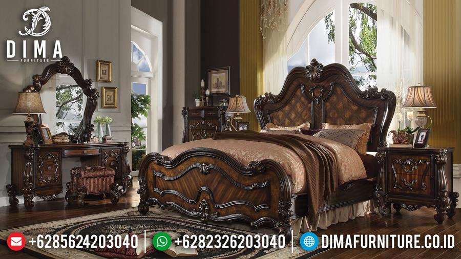 Set Kamar Tidur Jepara Mewah Terbaru Natural Finishing DF-0443