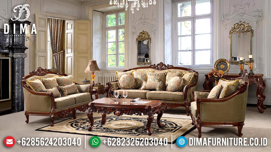 Kursi Sofa Tamu Jati Ukiran Jepara Klasik Mewah Model Eropa DF-0488