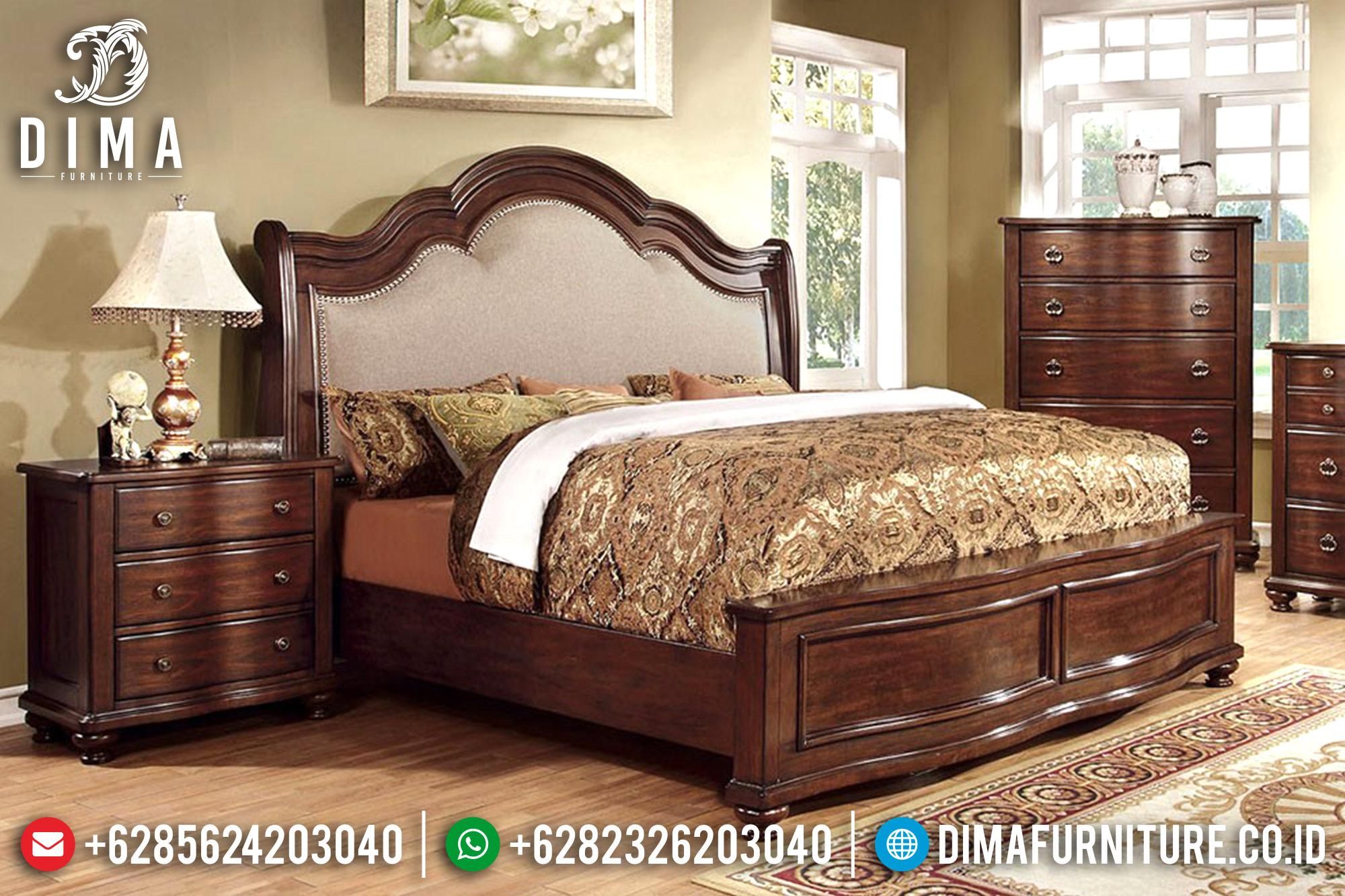 Set Kamar Tidur Minimalis Jati Jepara Mewah Terbaru Davina DF-0509