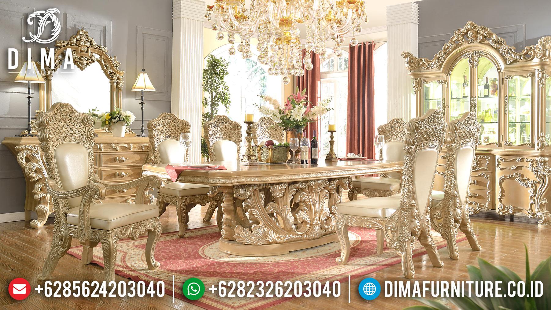 Meja Makan Mewah Jepara Terbaru 2018 04 Dima Furniture Jepara