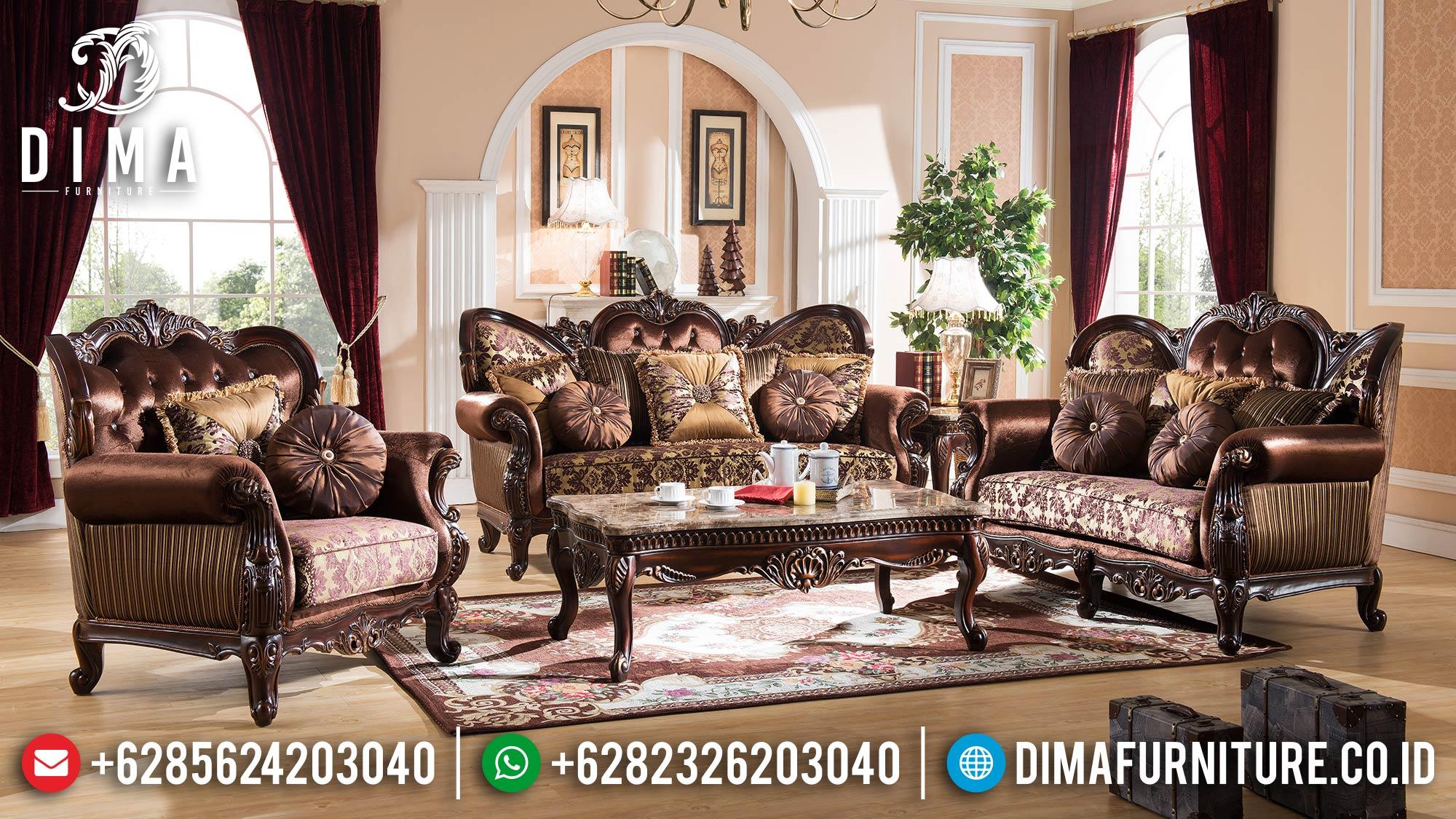Kursi Sofa Tamu Jepara Jati Ukiran Klasik Mewah Berkualitas DF-0520