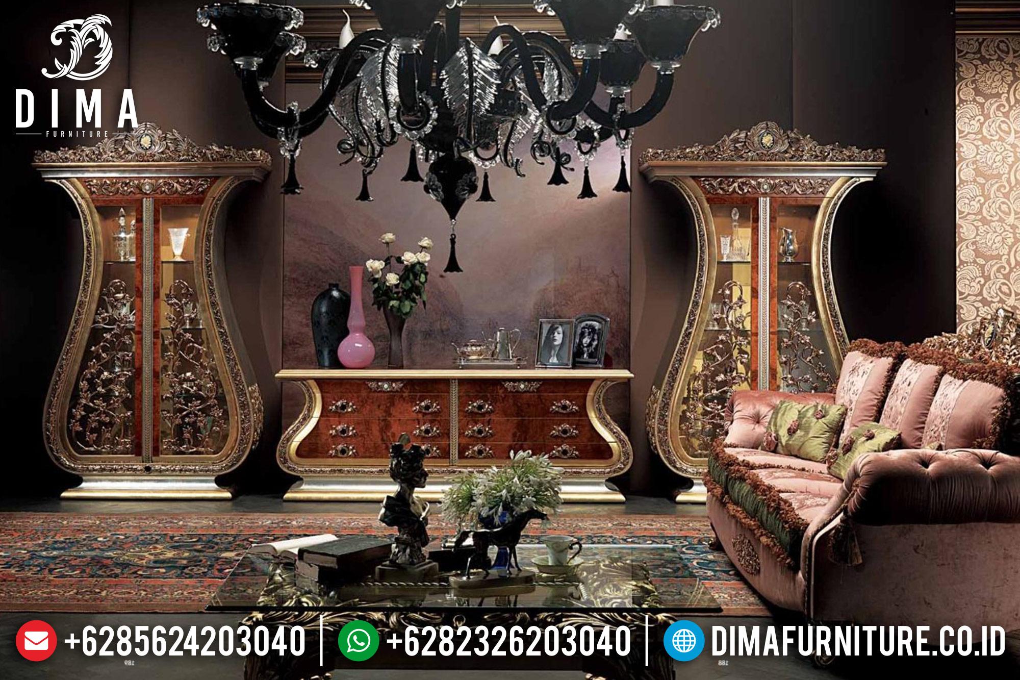 Set Meja Bufet TV Mewah Klasik Terbaru Jepara DF-0514