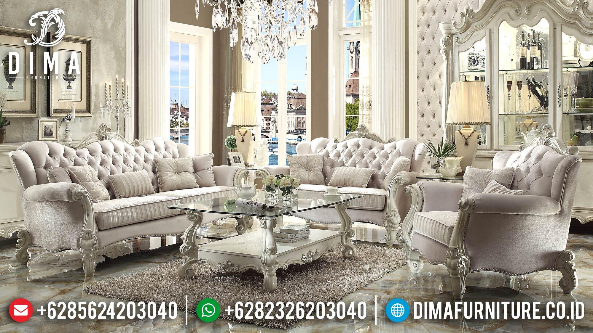Sofa Ruang Tamu Mewah Jepara Model Terbaru Klasik Eropa DF-0526
