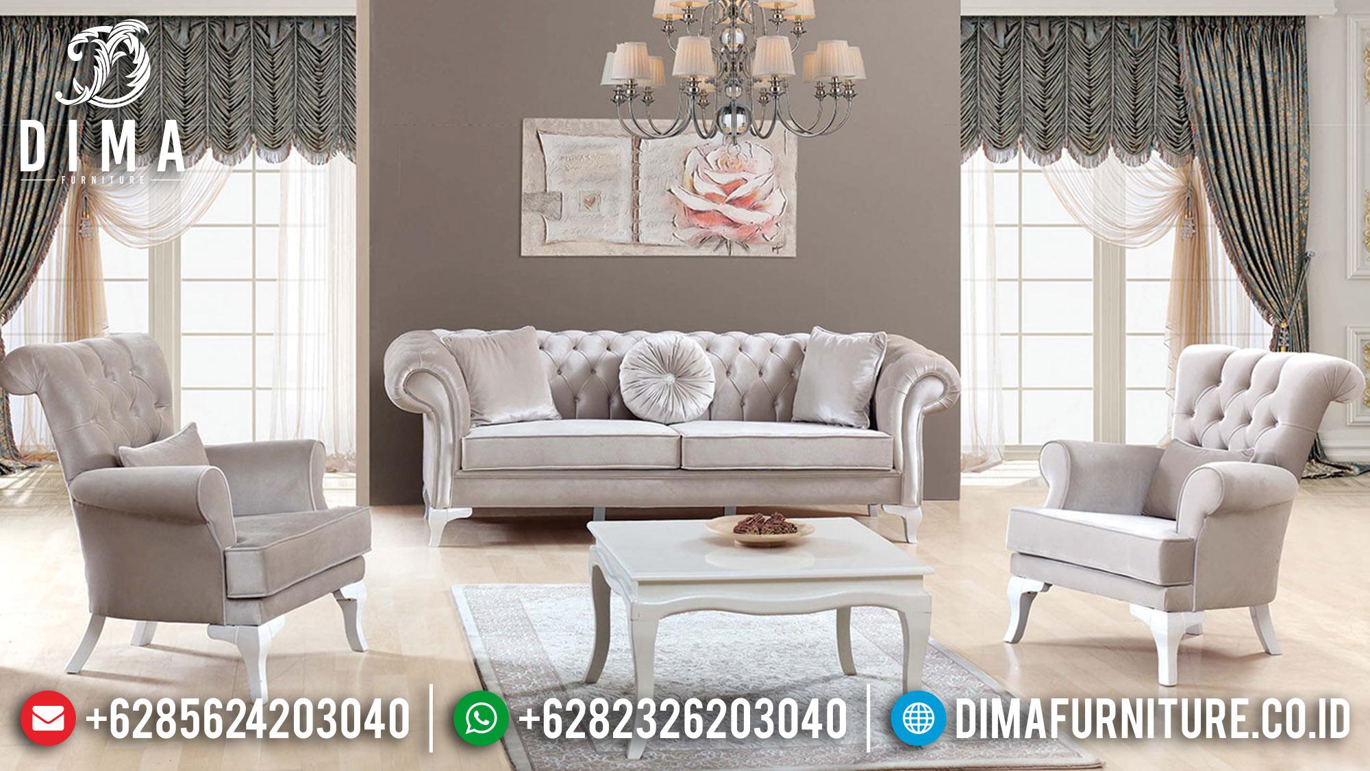 Sofa Tamu Mewah Jepara Model Minimalis Terbaru Lotus Turkey DF-0528