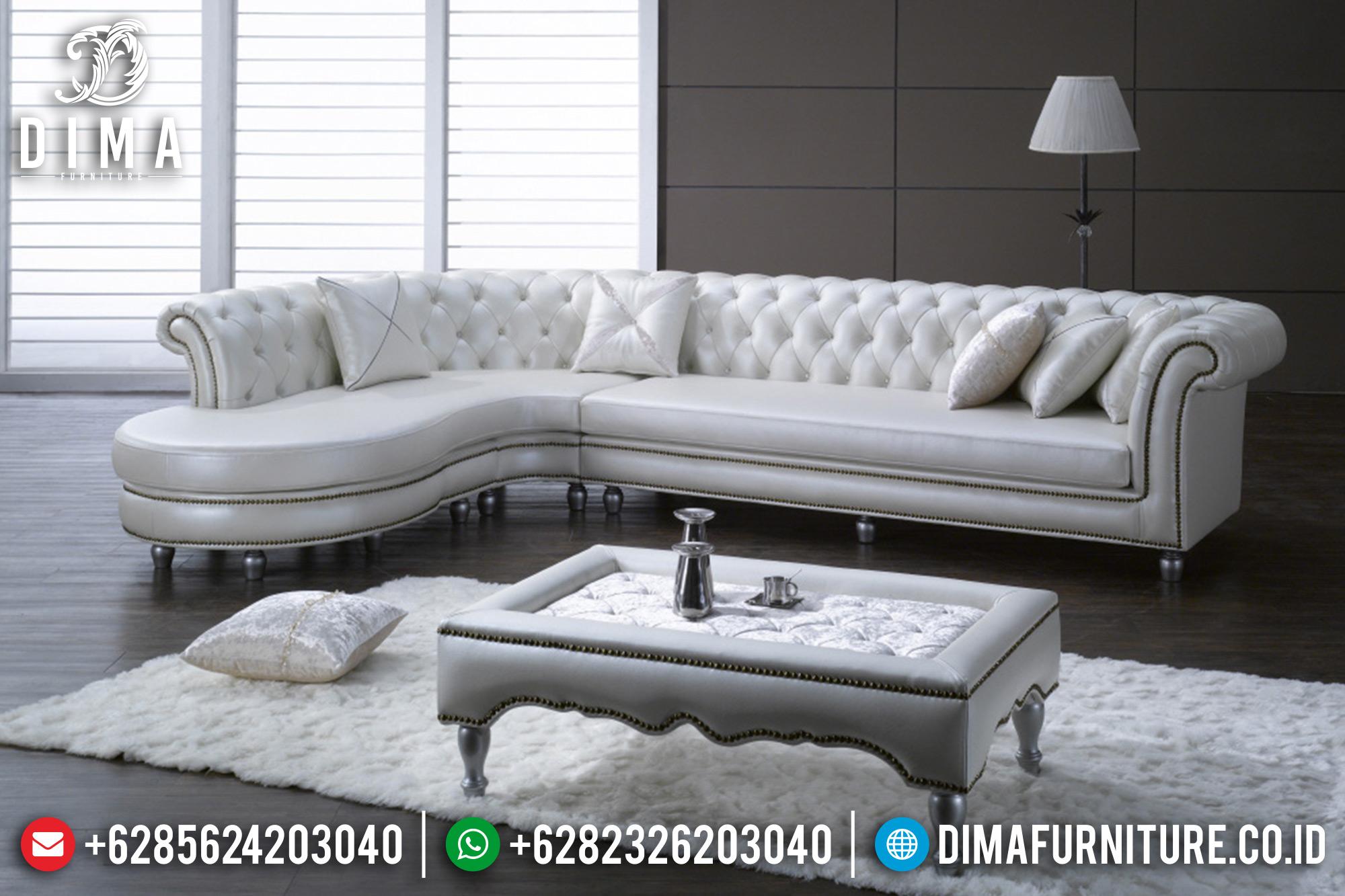 Sofa Tamu Jepara Mewah Sudut L Full Cover Oscar DF-0534