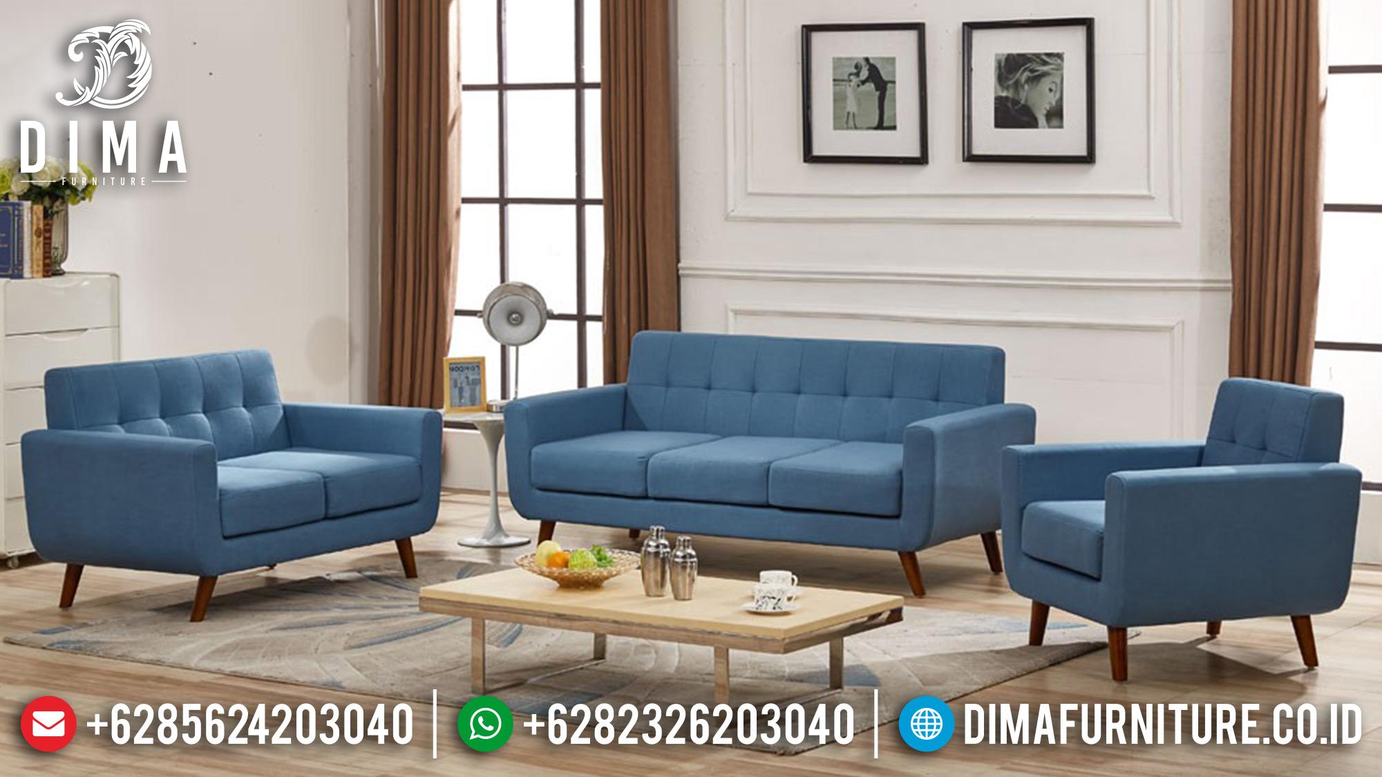 Mebel Jepara Terbaru Set Kursi Sofa Tamu Minimalis Mewah Tosca DF-0546 Gambar 1