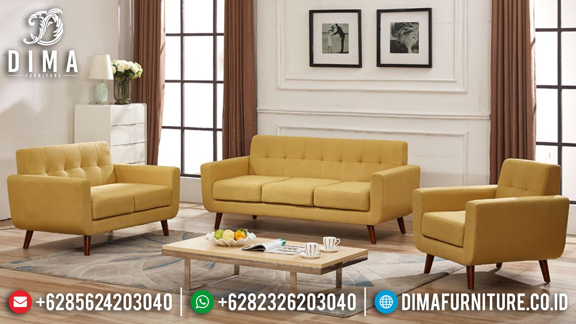 Mebel Jepara Terbaru Set Kursi Sofa Tamu Minimalis Mewah Tosca DF-0546 Gambar 2
