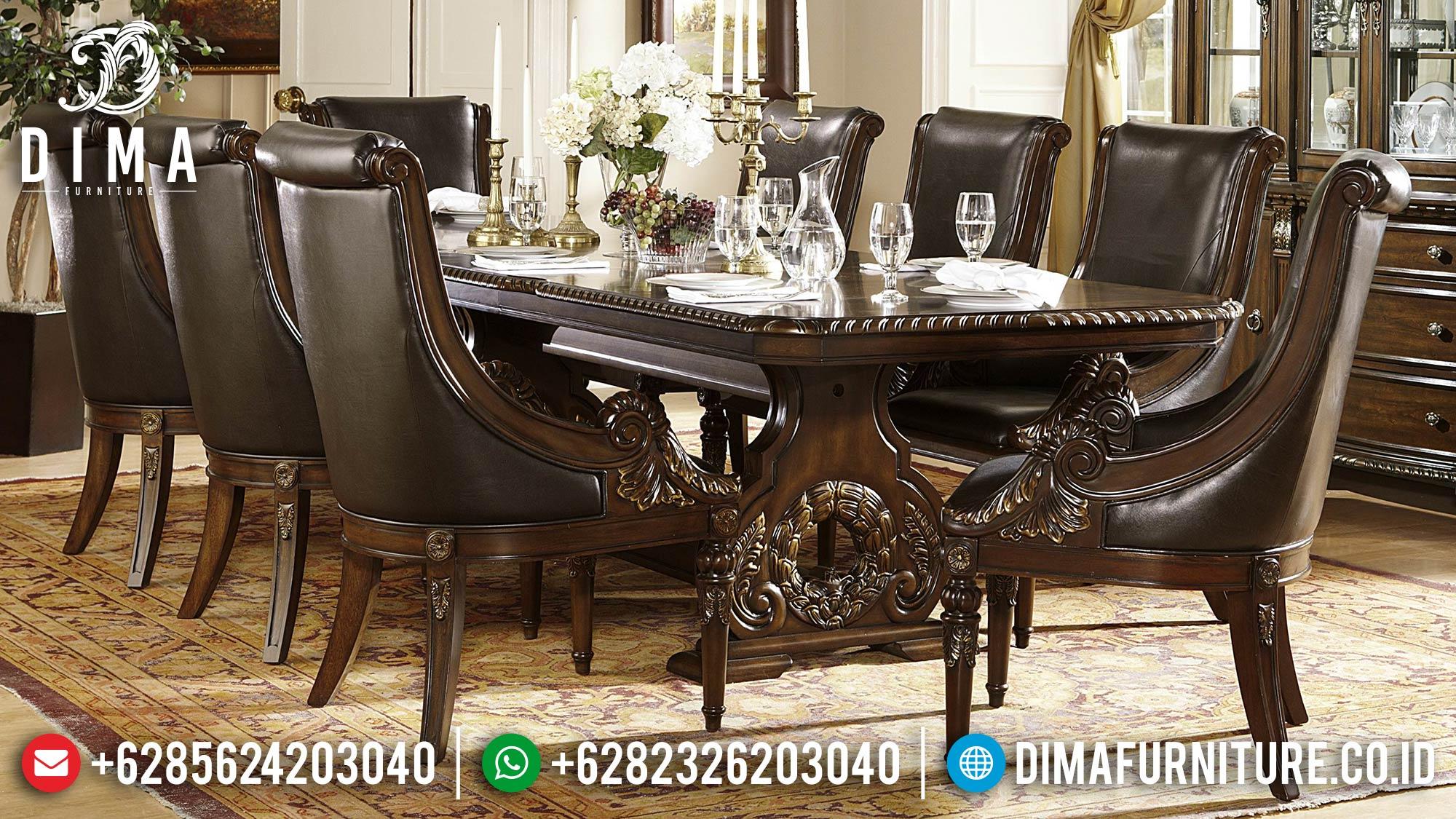 Meja Makan Mewah Jepara Ukiran Jati Klasik Terbaru Monalisa DF-0563
