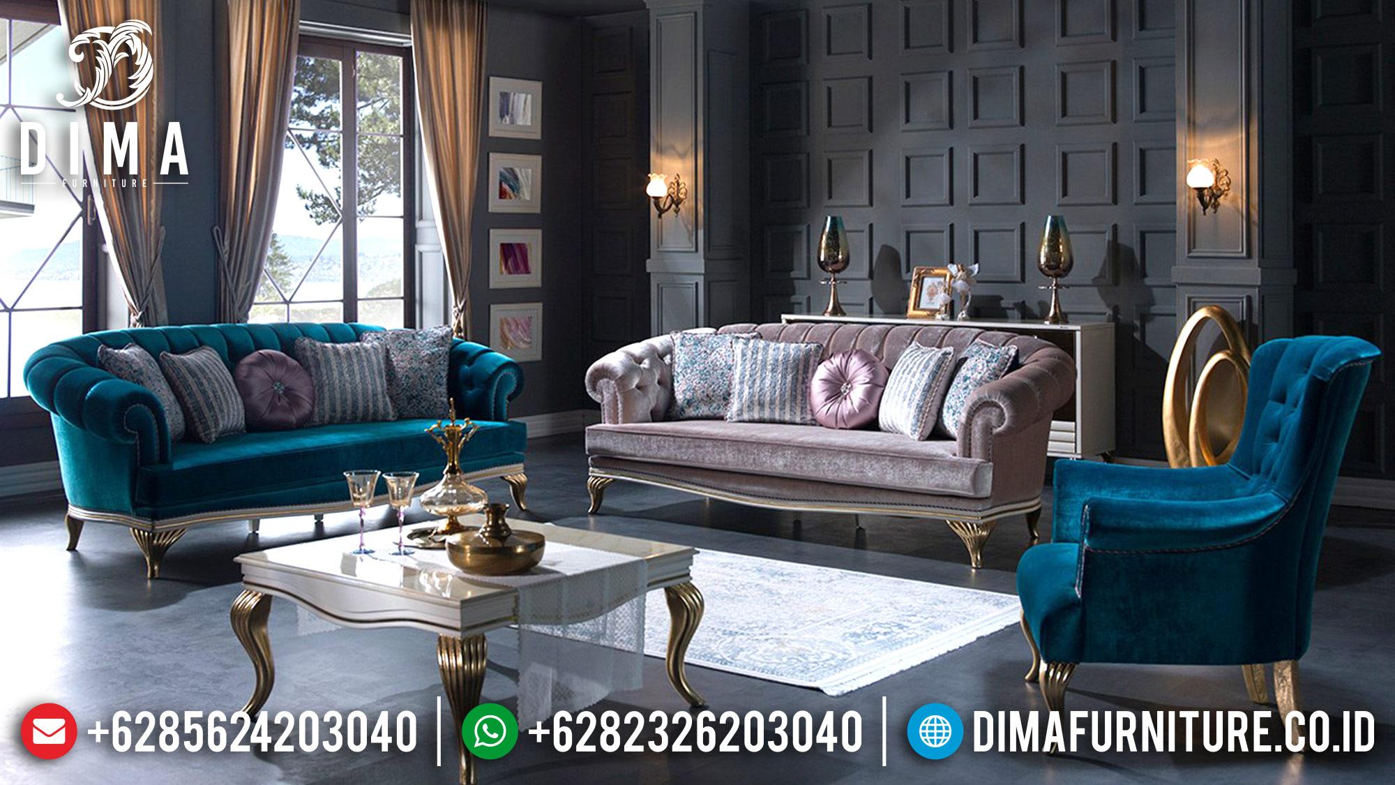 Mebel Jepara Terbaru Set Sofa Tamu Mewah Elite Koltuk DF-0567