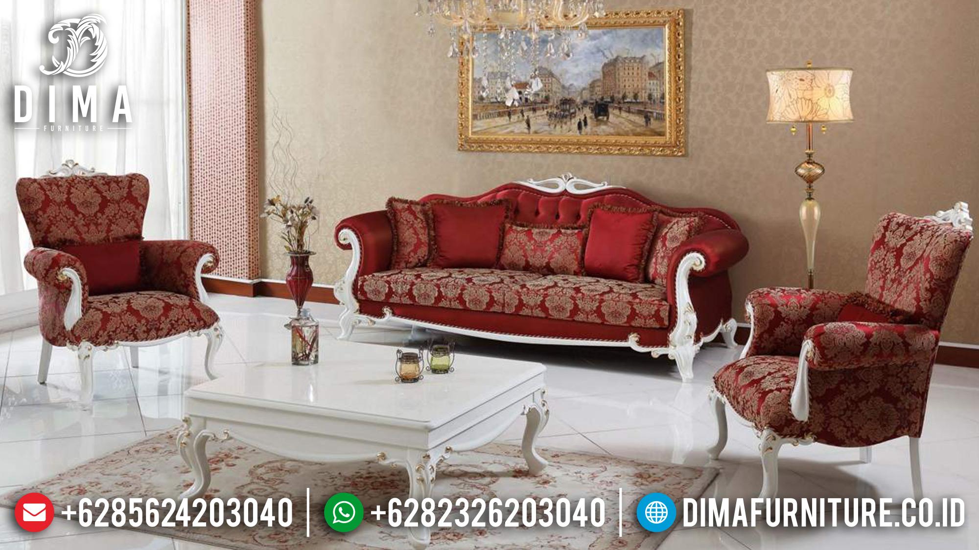 Sofa Tamu Mewah Jepara Mebel Model Terbaru Zirve Krimizi DF-0568