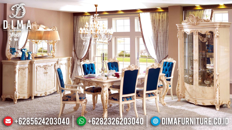 Classic Furiture Luxury Meja Makan Jepara Mewah Terbaru Ivory DF-0593