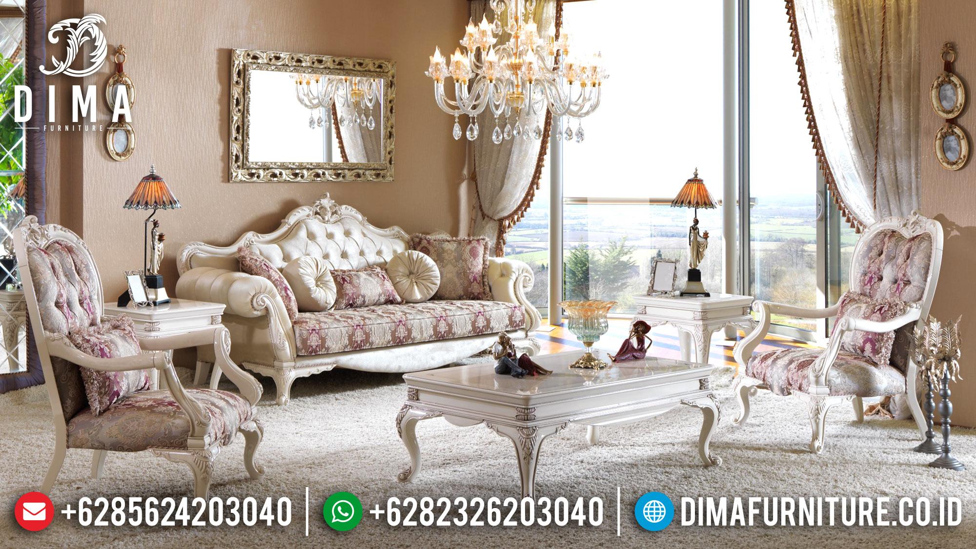 Classic Furniture Interior Sofa Tamu Mewah Jepara Terbaru Zumrut Koltuk DF-0581