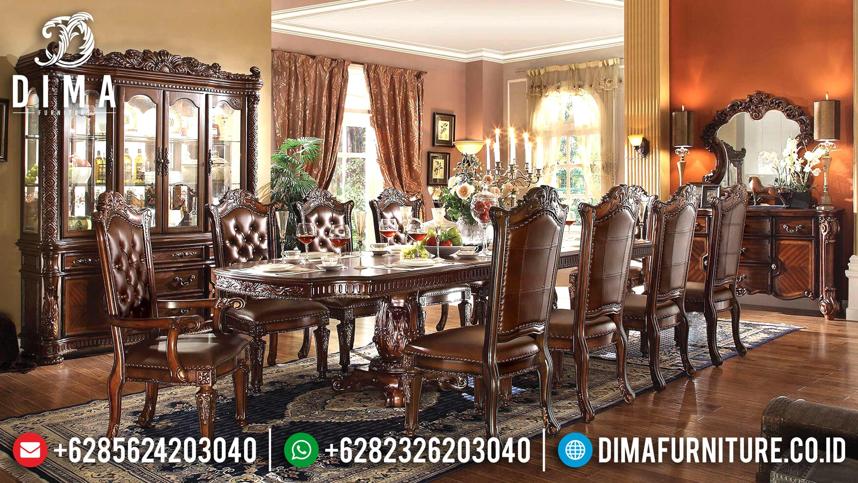Classic Furniture Set Meja Makan Mewah Jepara Seri Vendome Terbaru DF-0591
