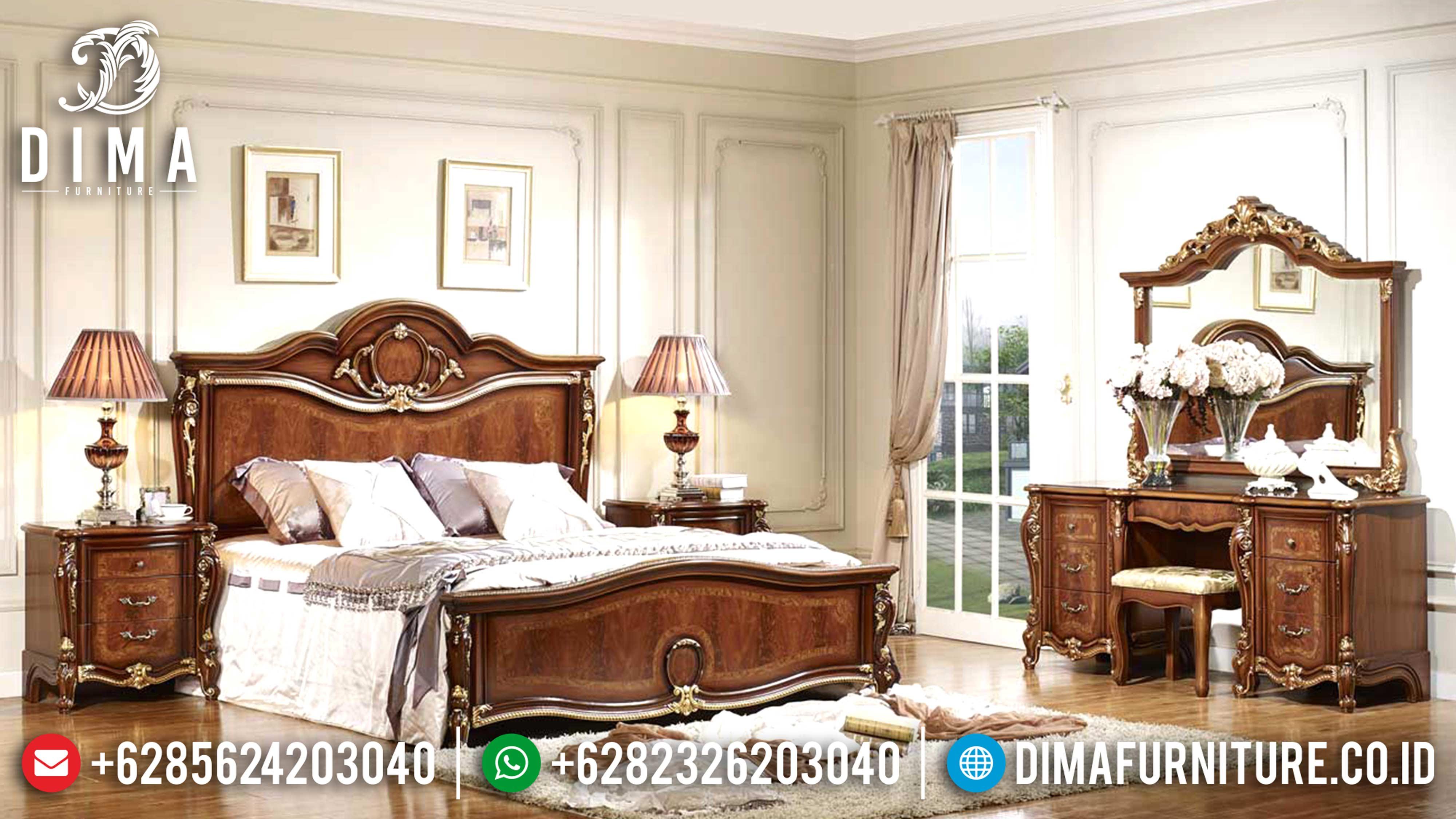 Furniture Klasik 1 Set Tempat Tidur Mewah Jepara Jati TPK Tiziano DF-0602