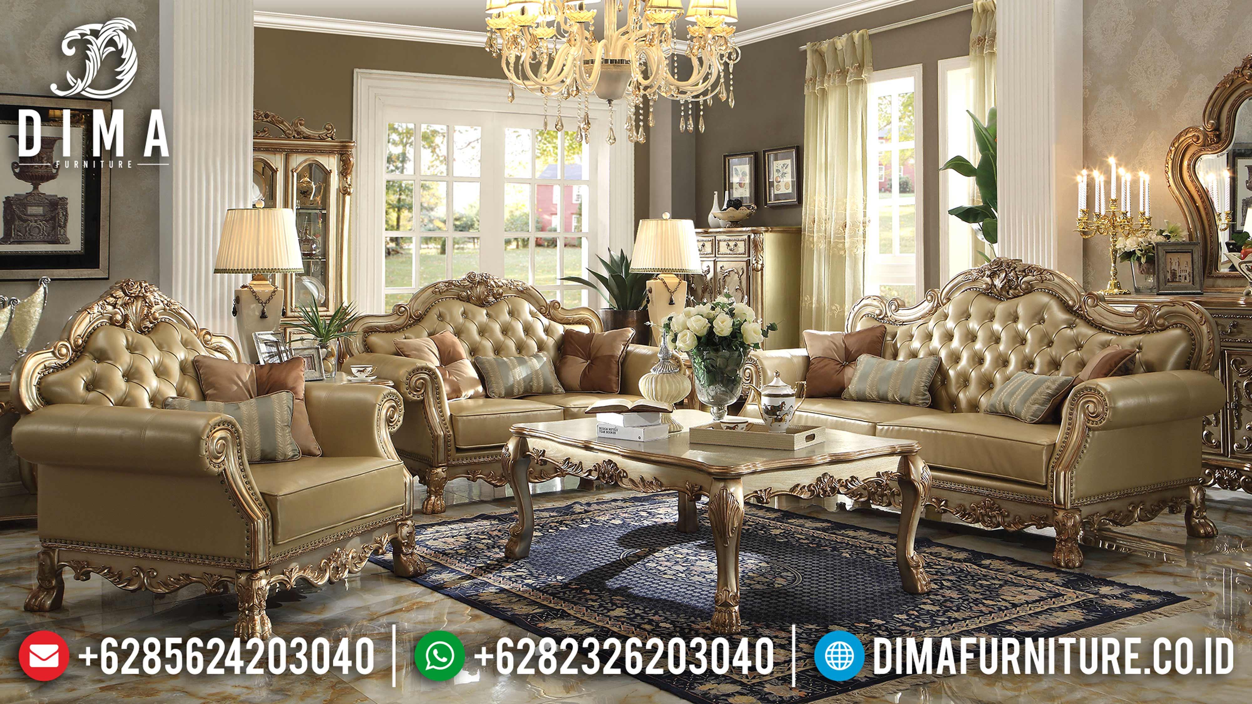 Sofa Tamu Jepara Mewah Model Classic Elegan Royal Terbaru DF-0580