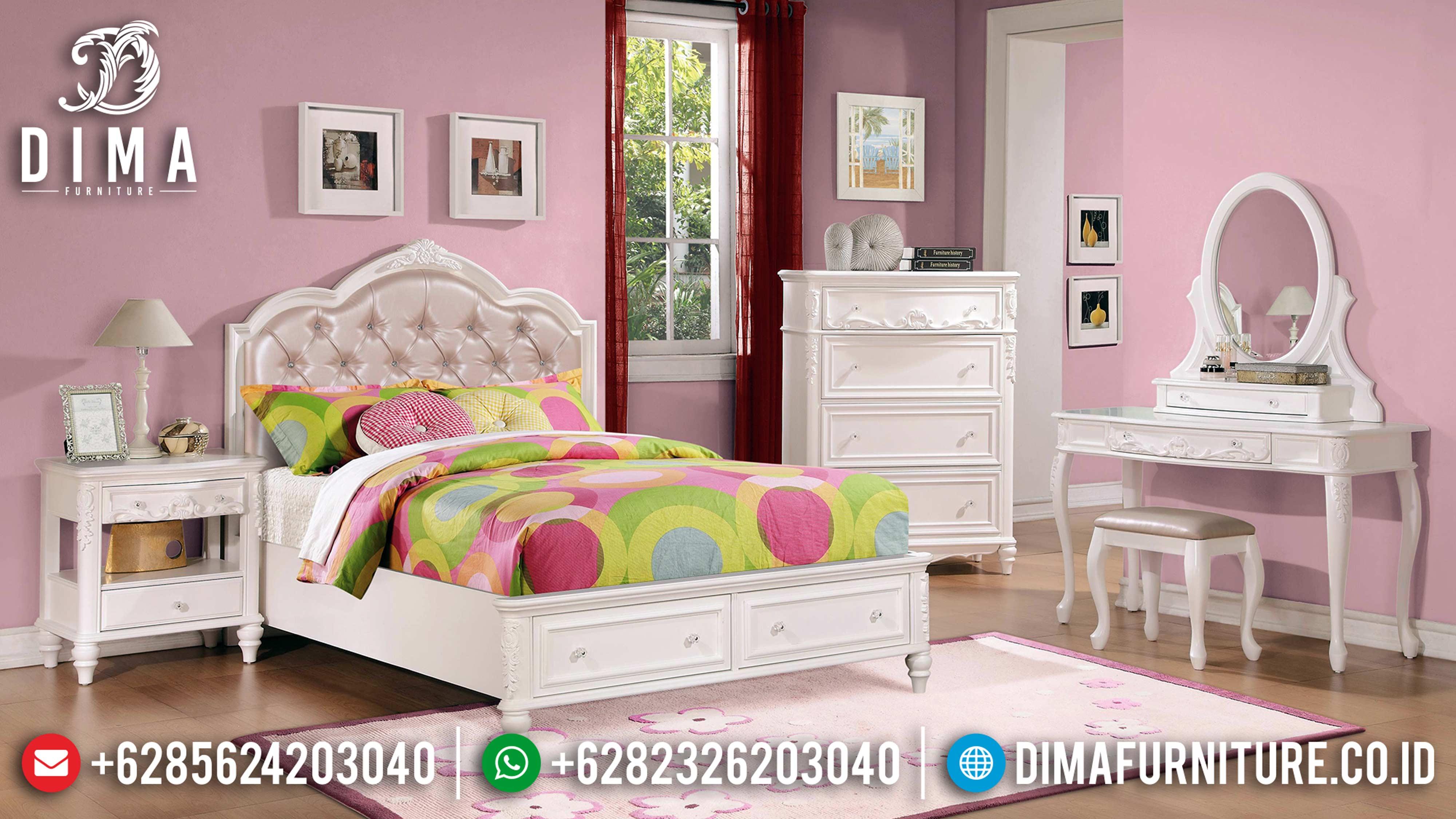 Tempat Tidur Anak Minimalis Mebel Jepara Terbaru Seri Caroline DF-0590