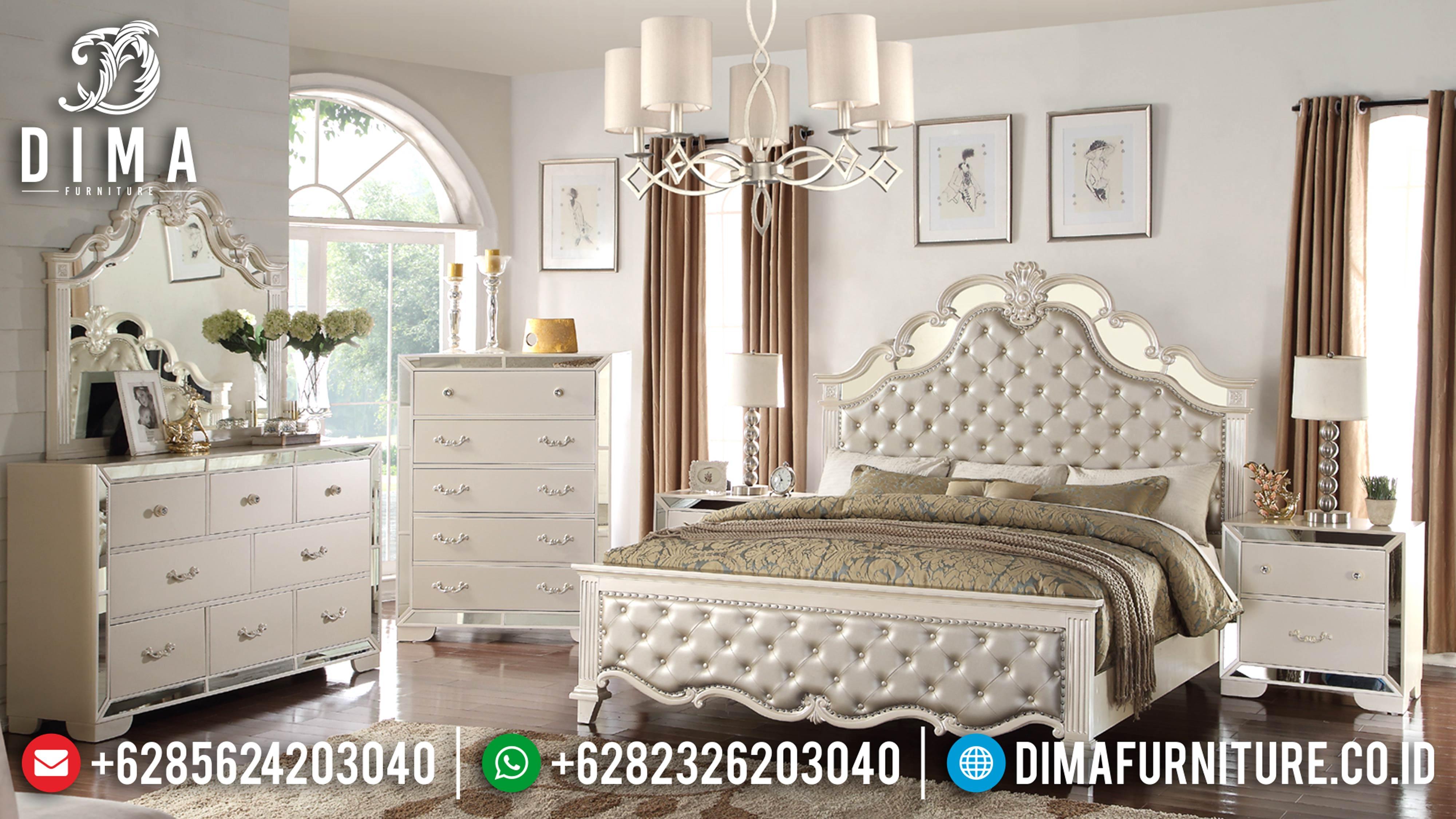 Tempat Tidur Mewah Minimalis, Kamar Set Mewah Sonia, Mebel Jepara Murah DF-0604