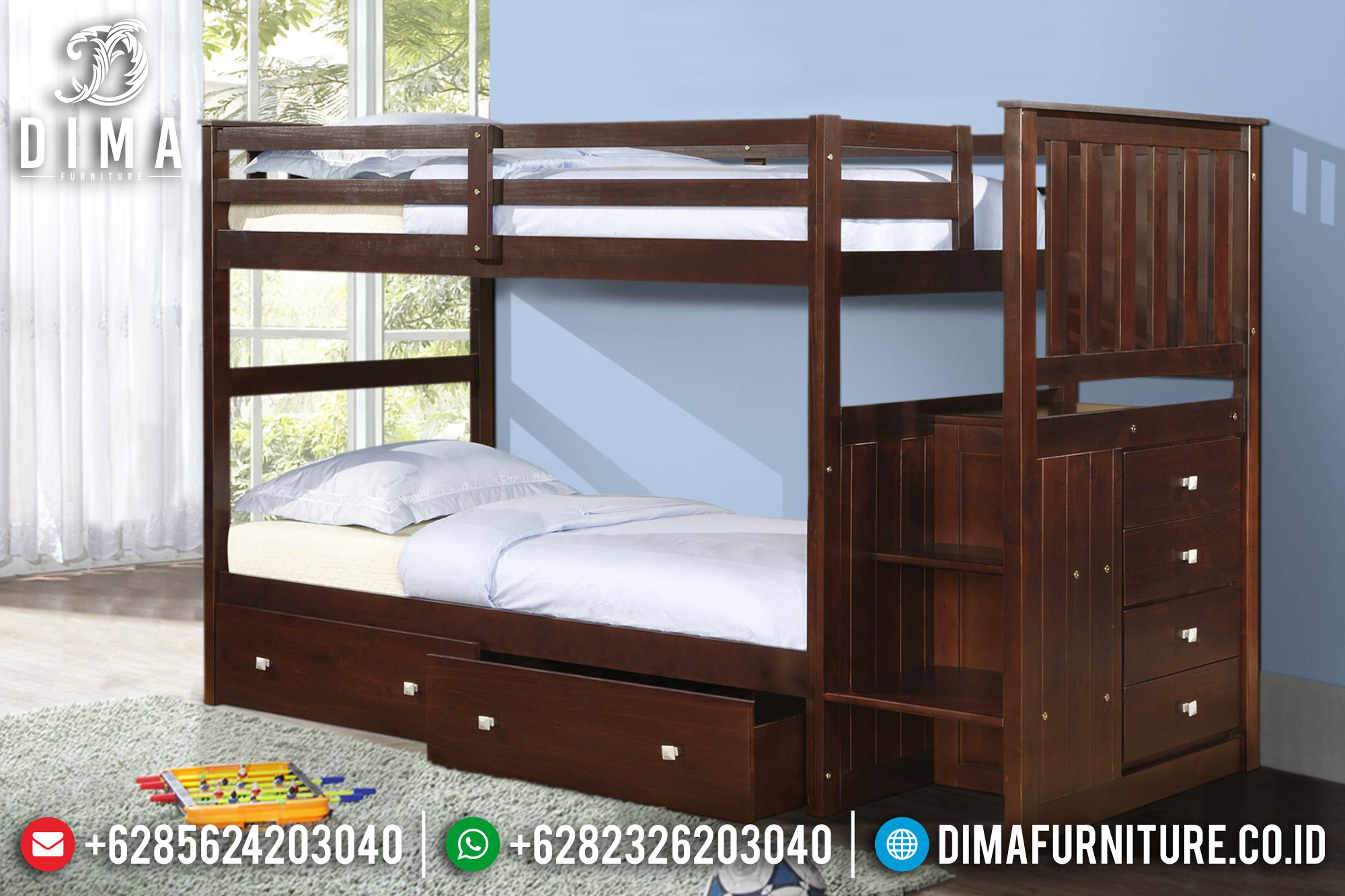 Tempat Tidur Anak Minimalis, Dipan Tingkat Jati, Mebel Jepara Terbaru DF-0615