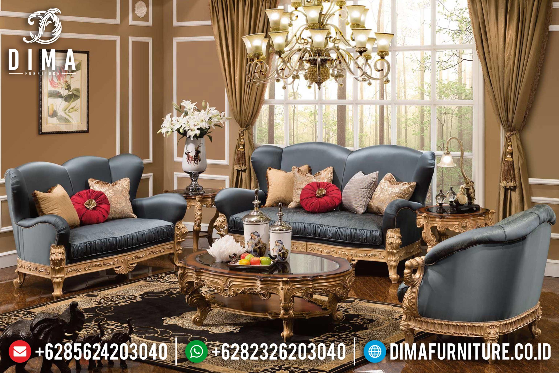 Fountaine Living Room Sofa Tamu Jepara Mewah Klasik Ivory Terbaru DF-0634