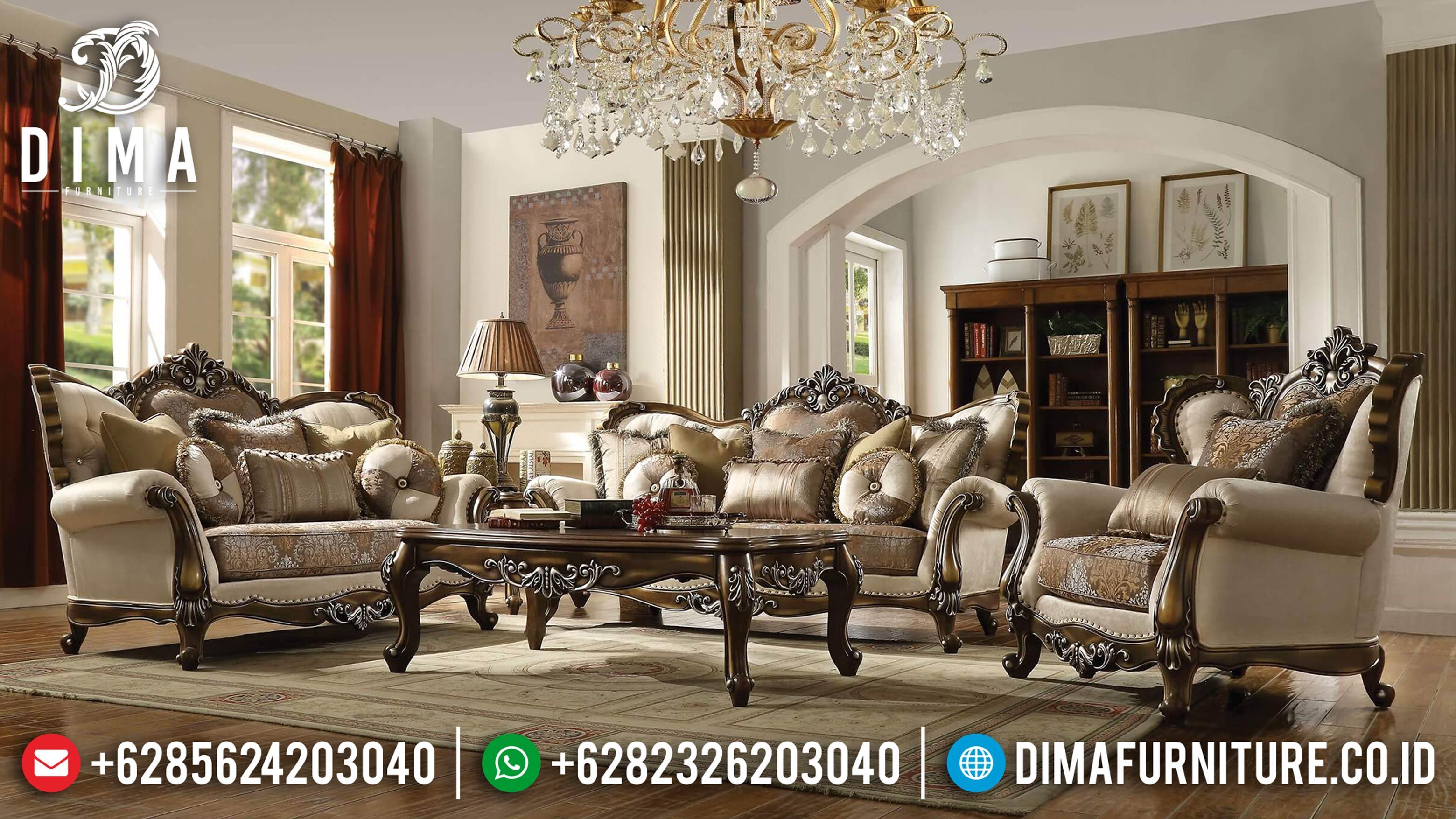 Sofa Ruang Tamu Murah, Sofa Tamu Jepara, Sofa Mewah Klasik DF-0651