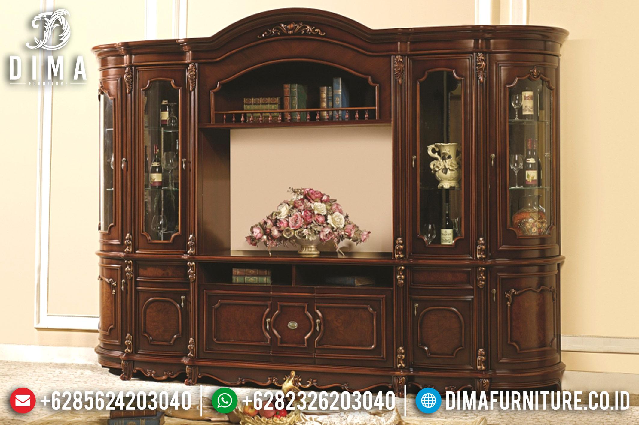 Bufet TV Jepara Mewah Model Klasik Ukiran Minimalis Victorian DF-0676