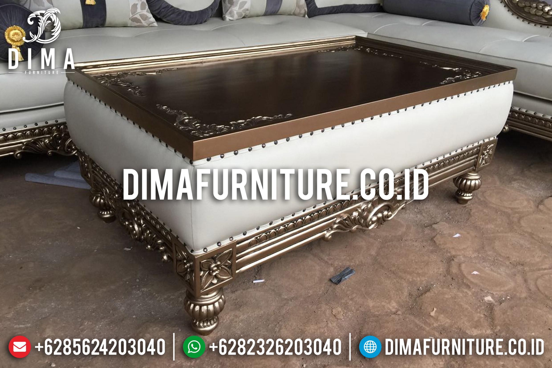 Jual Kursi Sofa Tamu Jepara Mewah Sudut L Klasik Emas Duco Terbaru DF-0666 Gambar 2